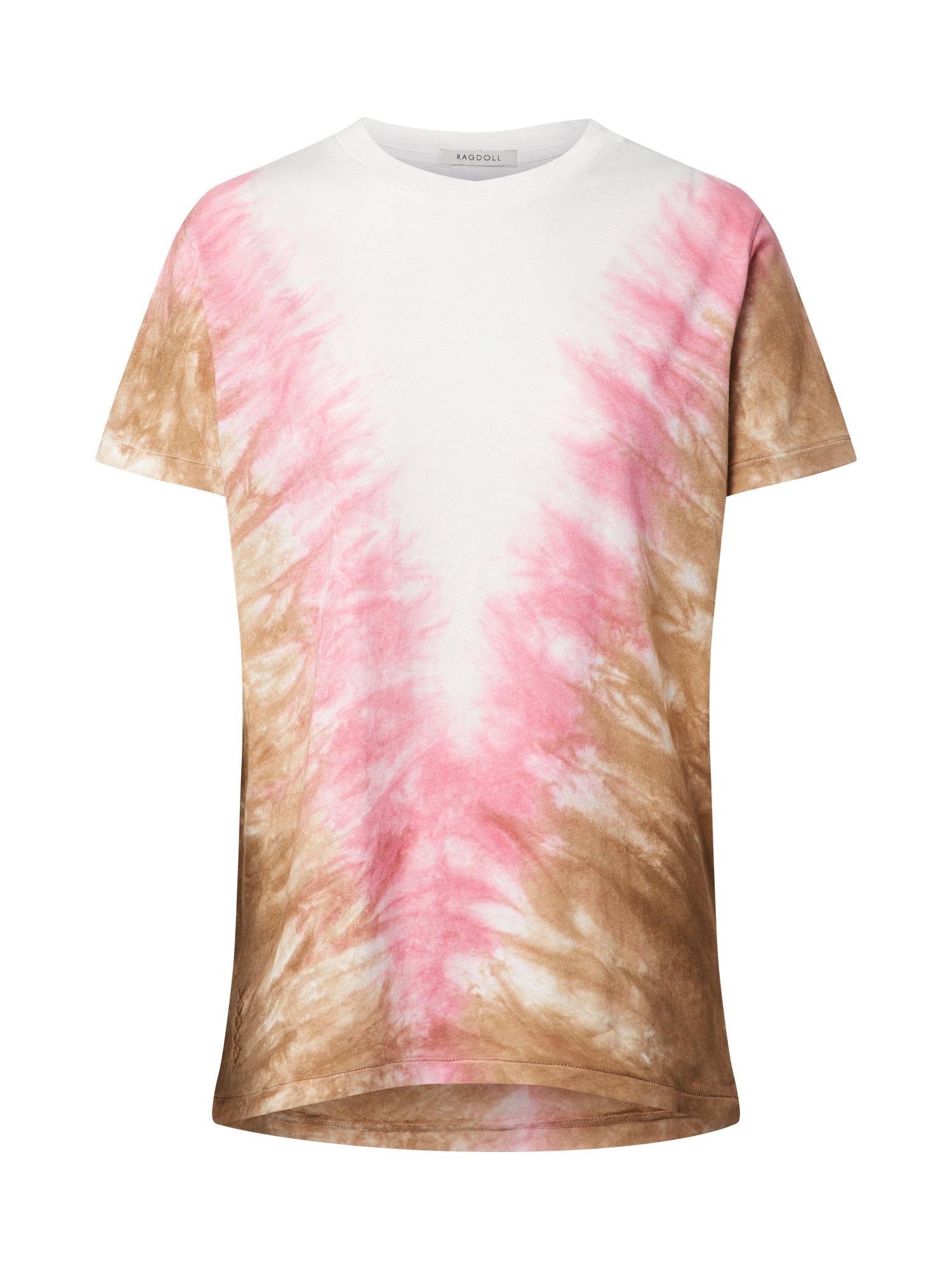 Ragdoll LA Tričko 'Tie Dye Vintage'  ružová / biela