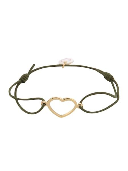 Armbaender für Frauen - Lua Accessories Armband 'True Love' gold oliv  - Onlineshop ABOUT YOU
