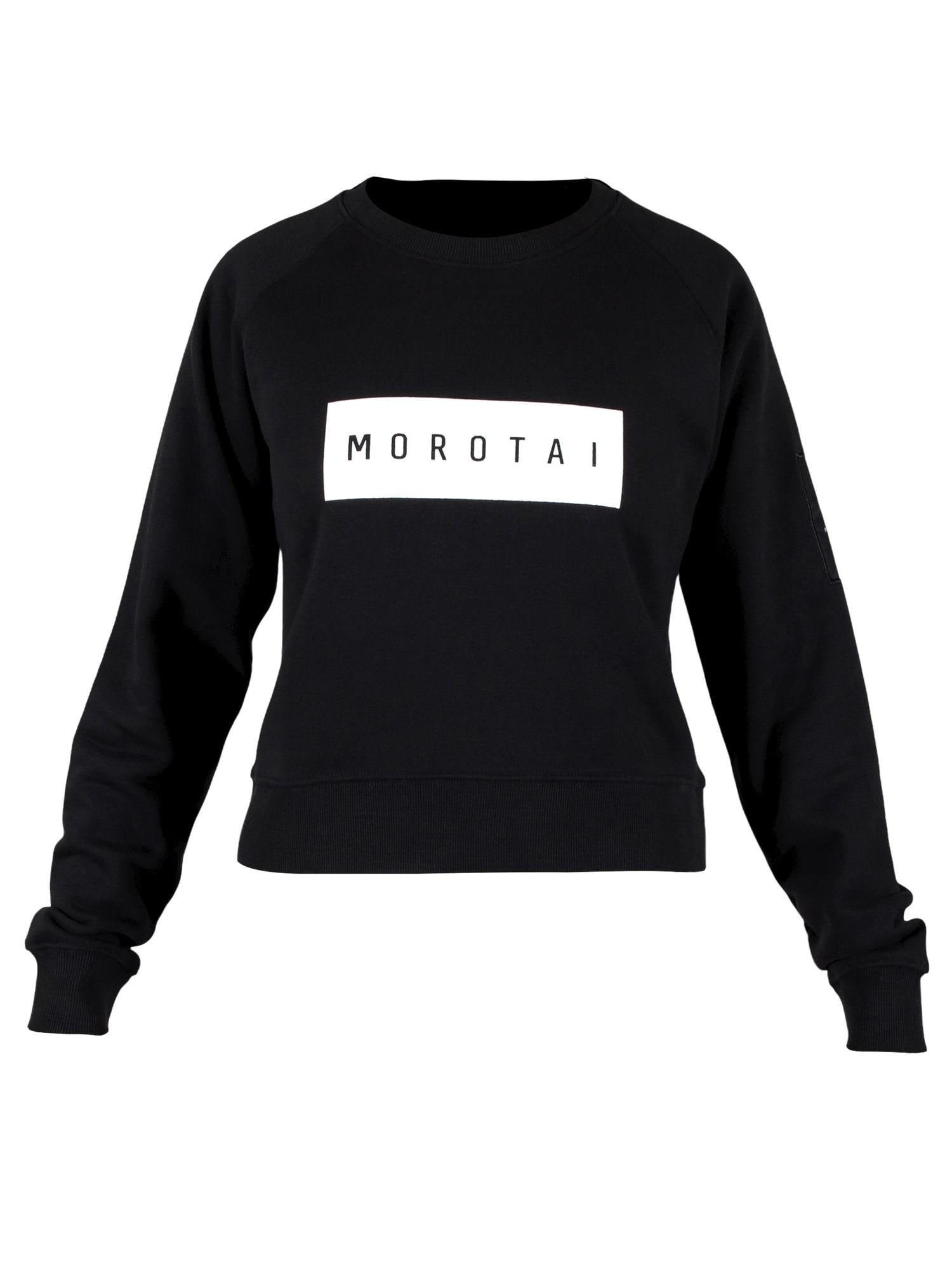 MOROTAI Sportinio tipo megztinis ' Large Bloc Logo Sweatshirt ' juoda