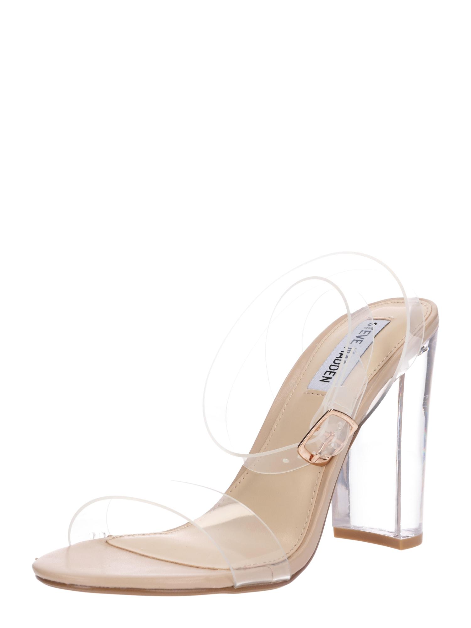 Páskové sandály průhledná STEVE MADDEN