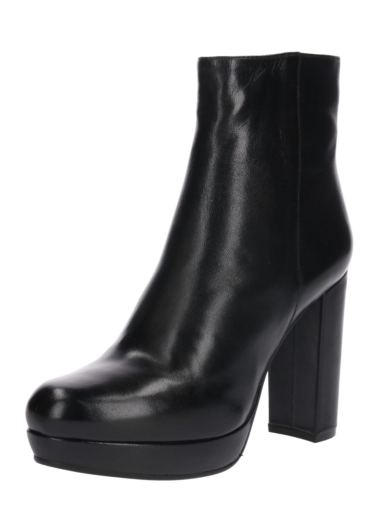Kotníkové boty Nanpurl černá SPM