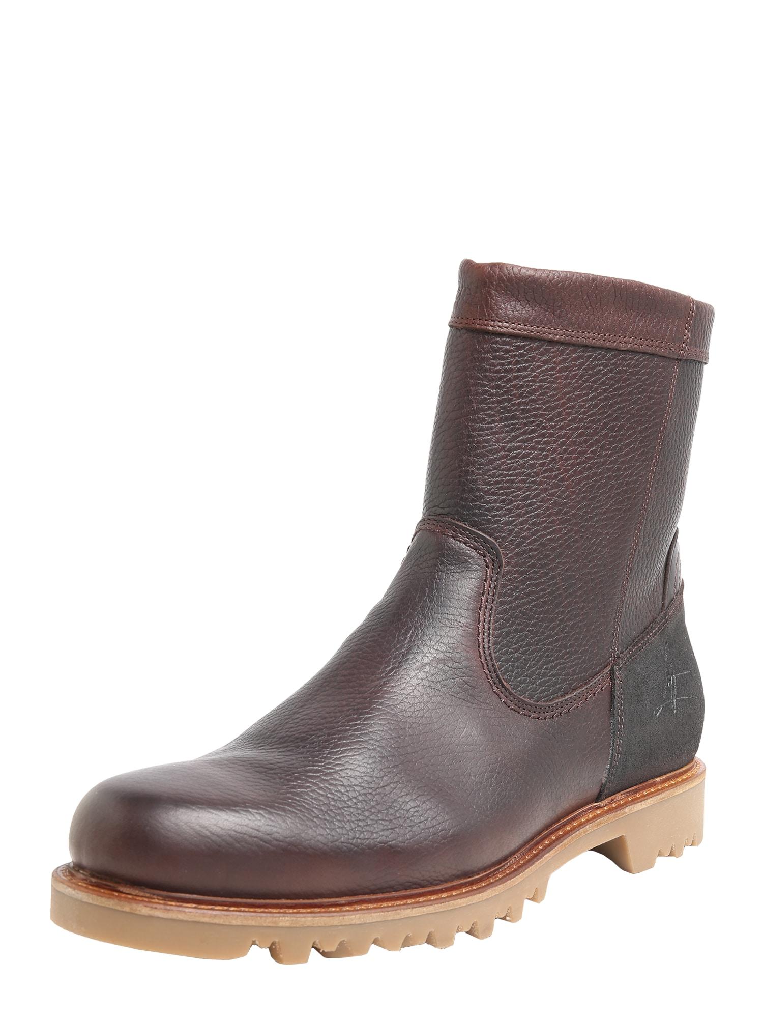 BULLBOXER Auliniai batai su kulniuku šokolado spalva