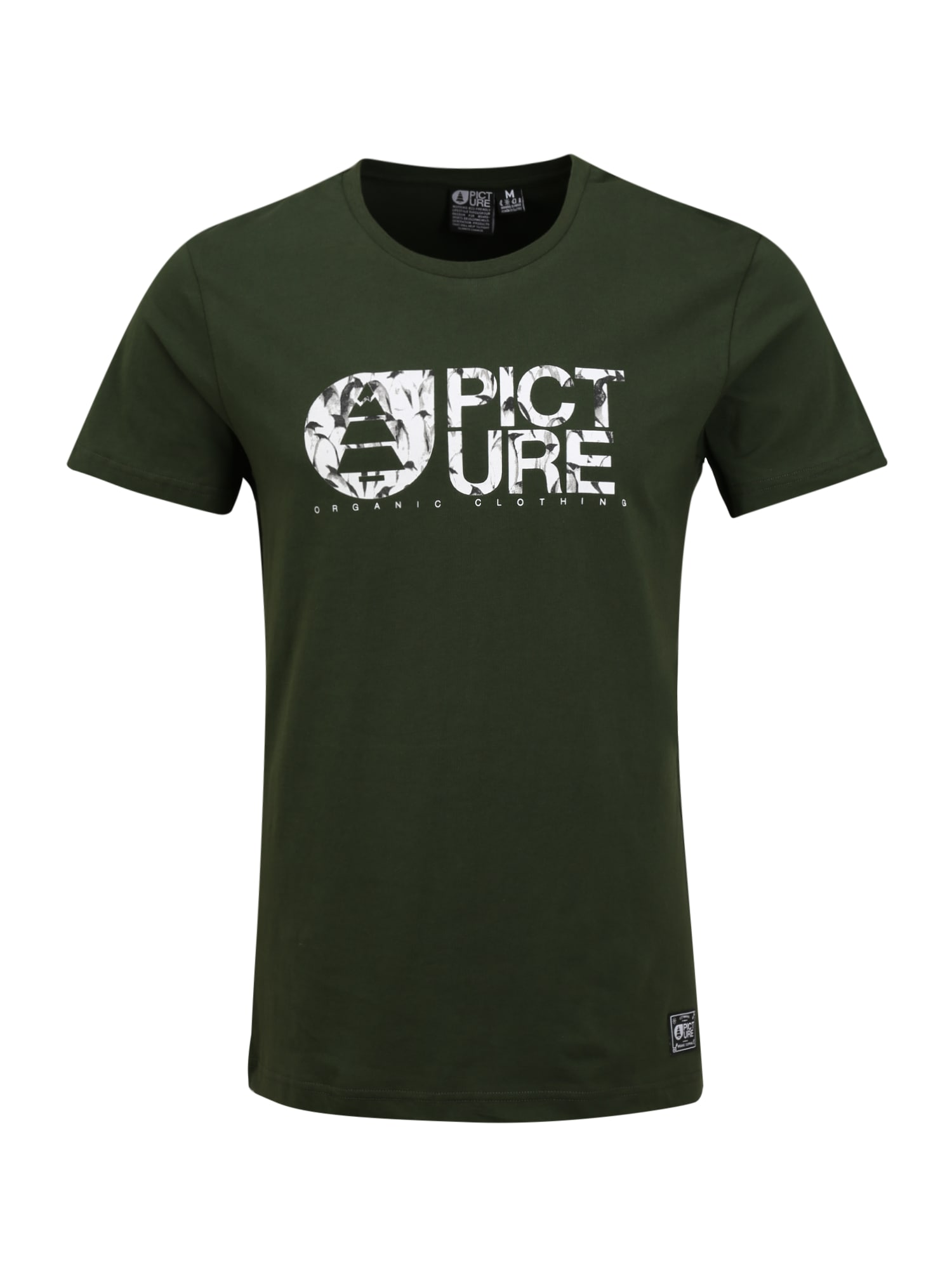 Picture Organic Clothing Sportiniai marškinėliai 'BASEMENT ICEFIELD' balta / įdegio spalva