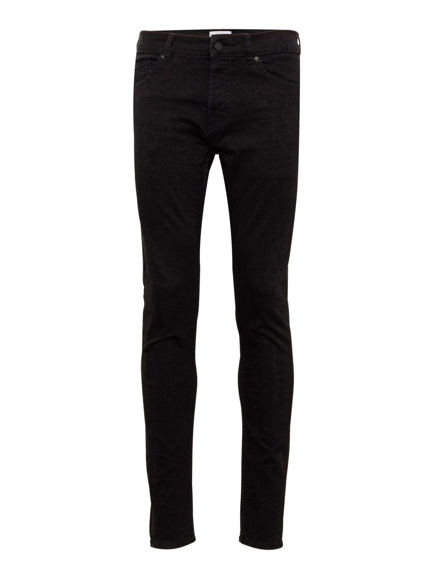 Only & Sons Džinsai 'onsLOOM BLACK DCC 0448 NOOS' juodo džinso spalva