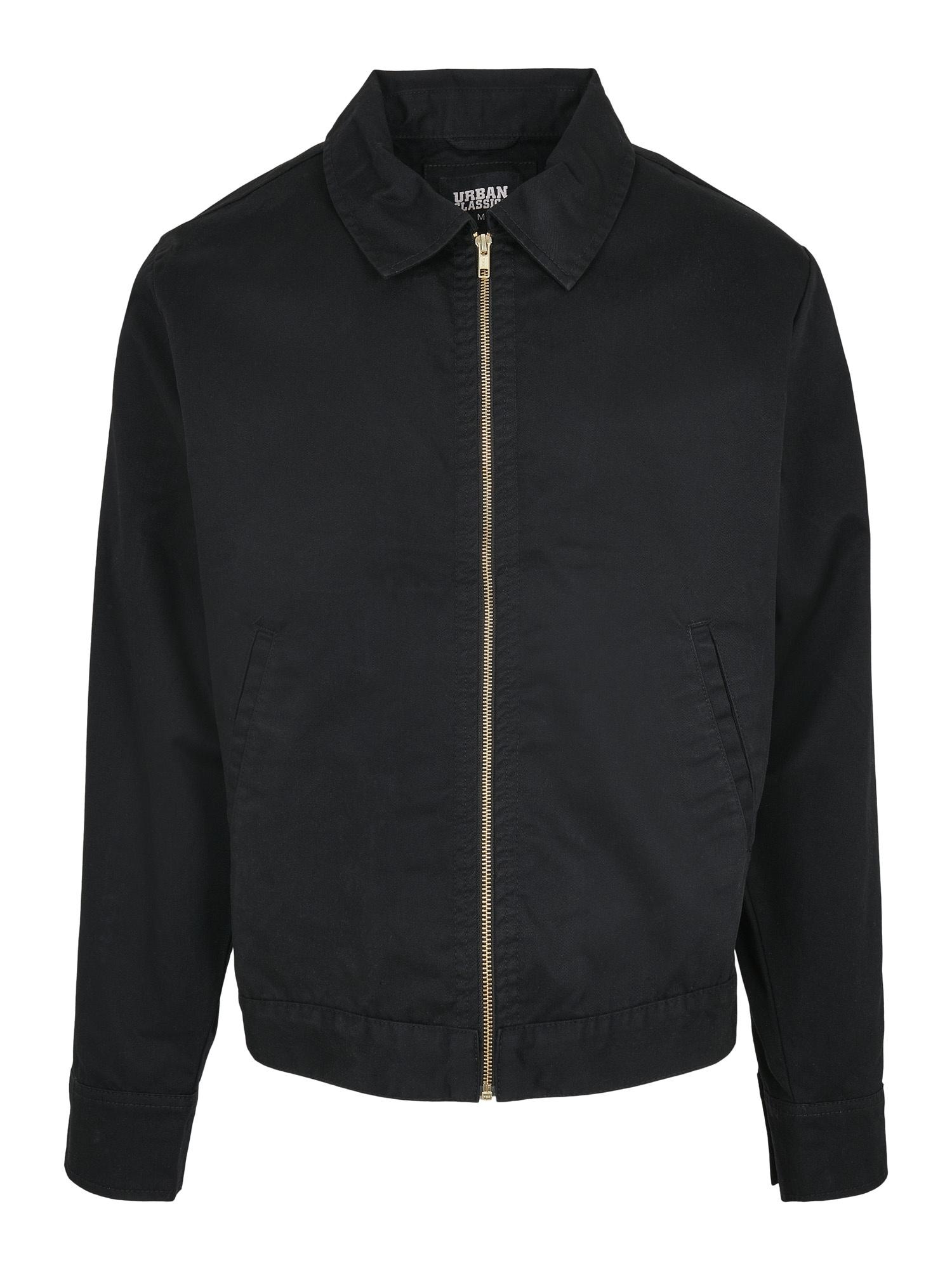 Urban Classics Demisezoninė striukė 'Workwear' juoda
