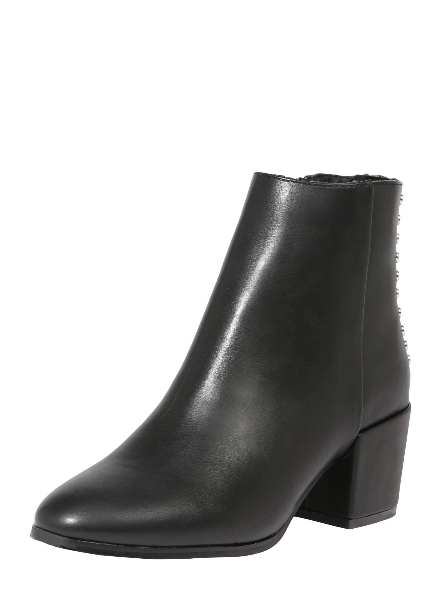 ONLY Kulkšnis dengiantys batai 'BELEN STUD PU BOOTIE' juoda