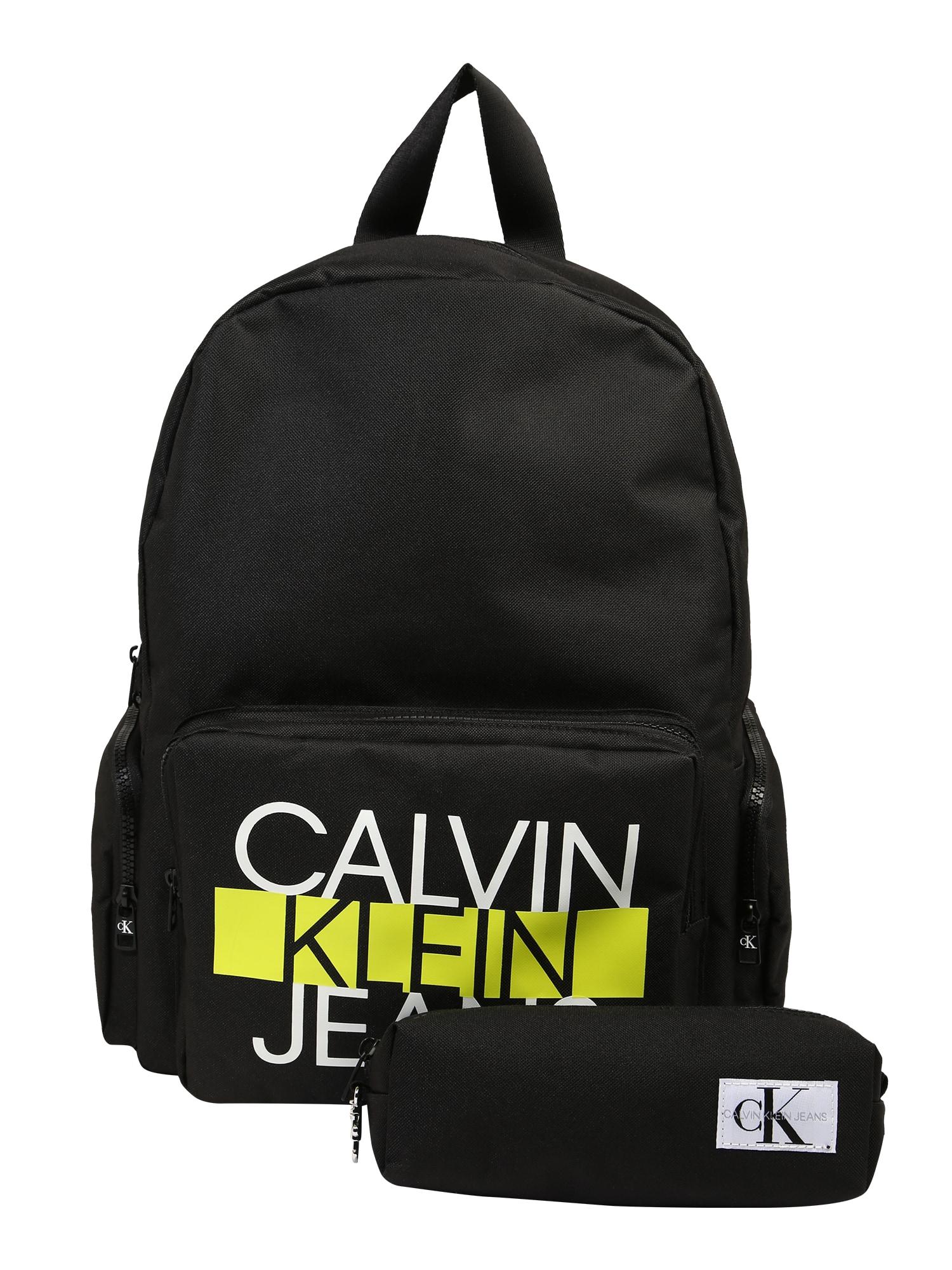 Calvin Klein Jeans Kuprinė geltona / juoda / balta