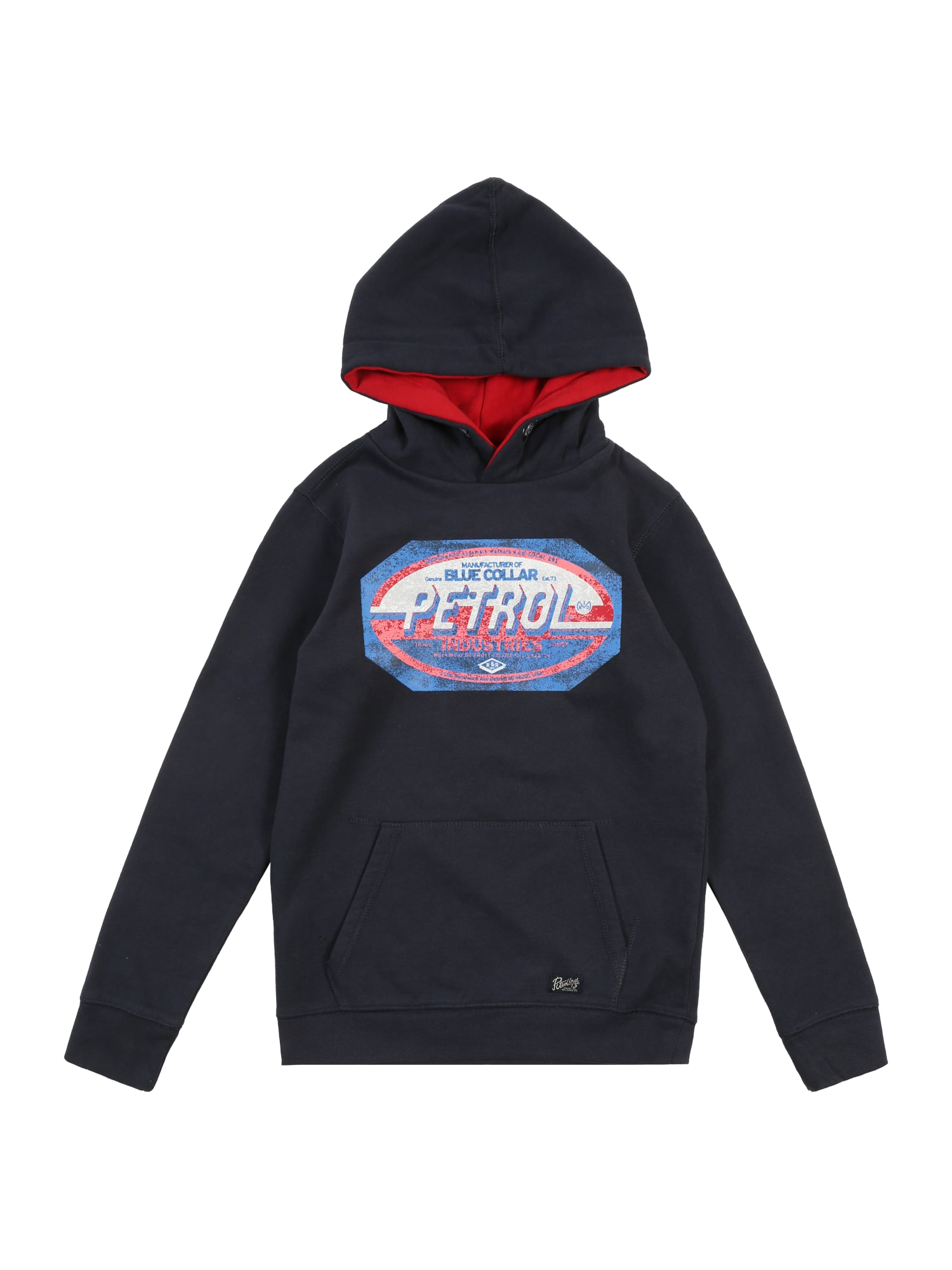 Petrol Industries Mikina 'Sweater Hooded'  námornícka modrá / červené