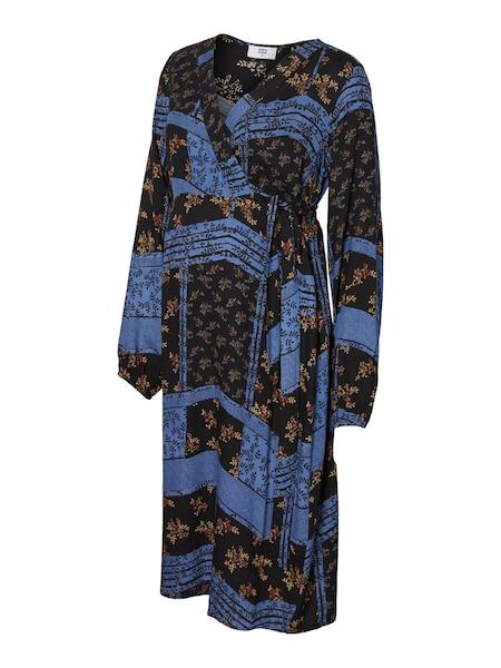 Schwangerschaftsmode - Schalprint Umstandskleid › Mamalicious › blau gelb schwarz  - Onlineshop ABOUT YOU