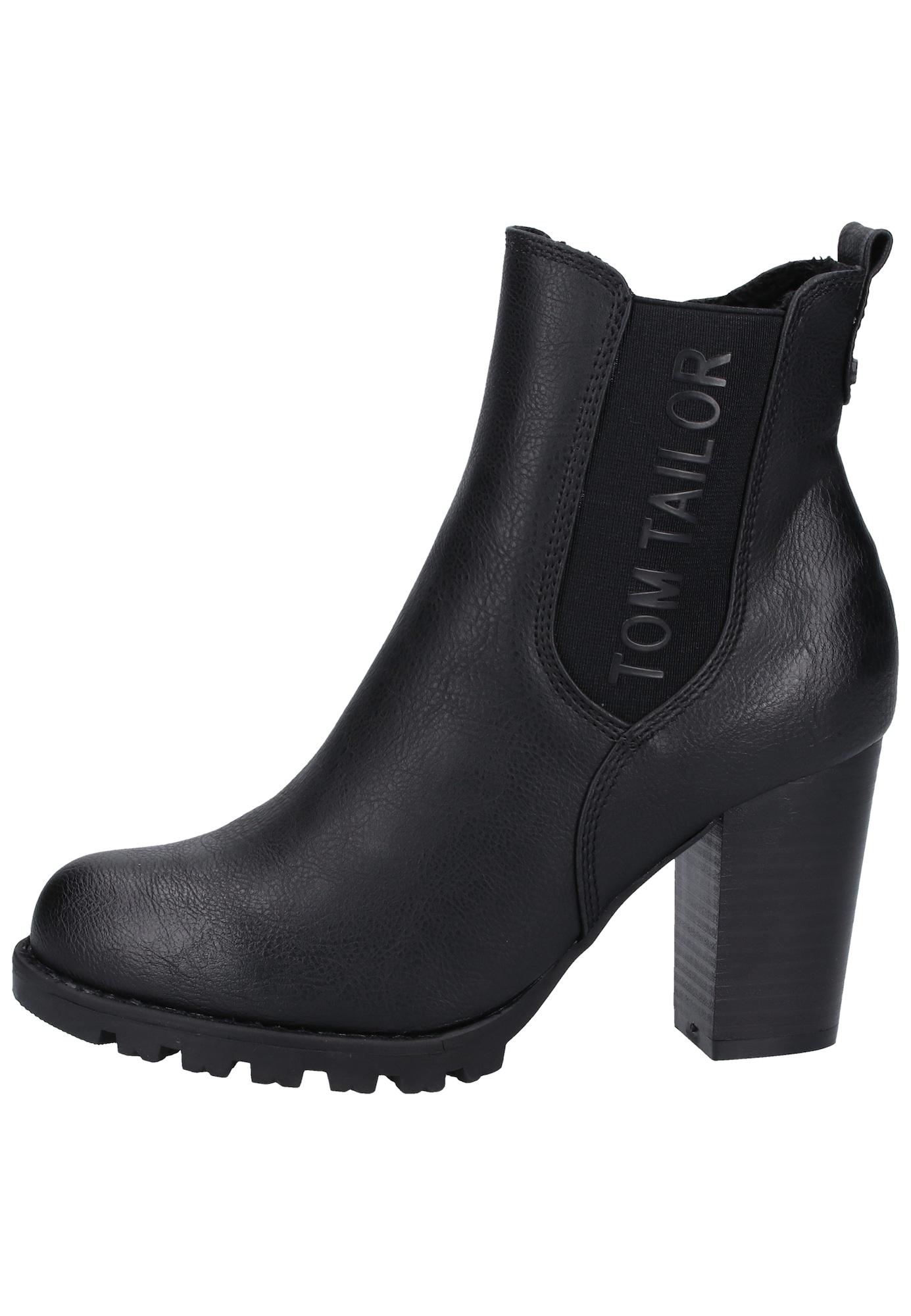 TOM TAILOR Chelsea batai juoda