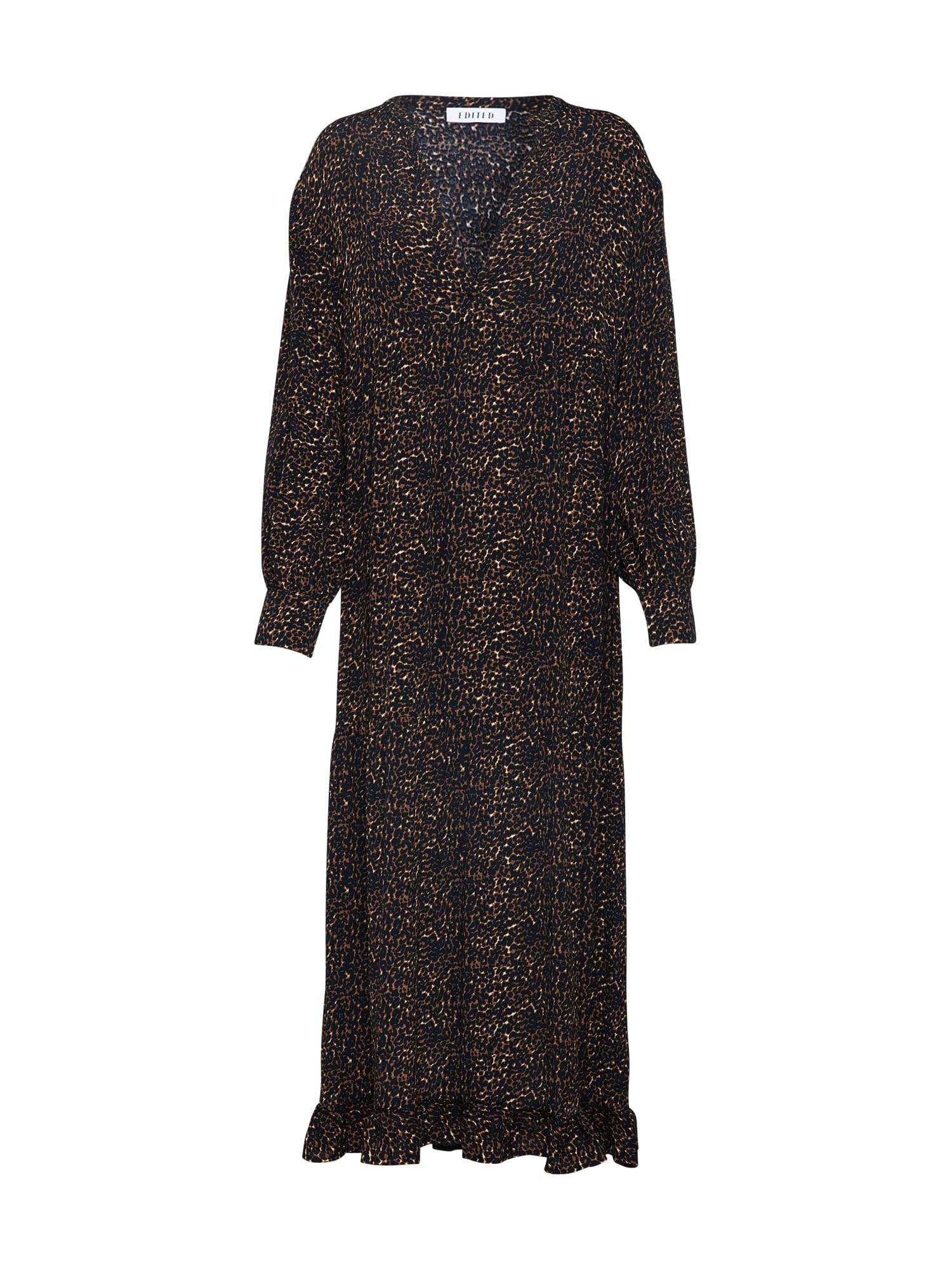 Šaty Chloe béžová hnědá černá EDITED