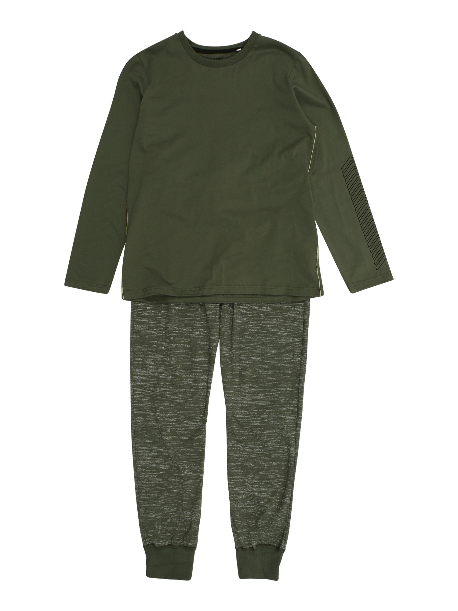 SANETTA Miego kostiumas rusvai žalia