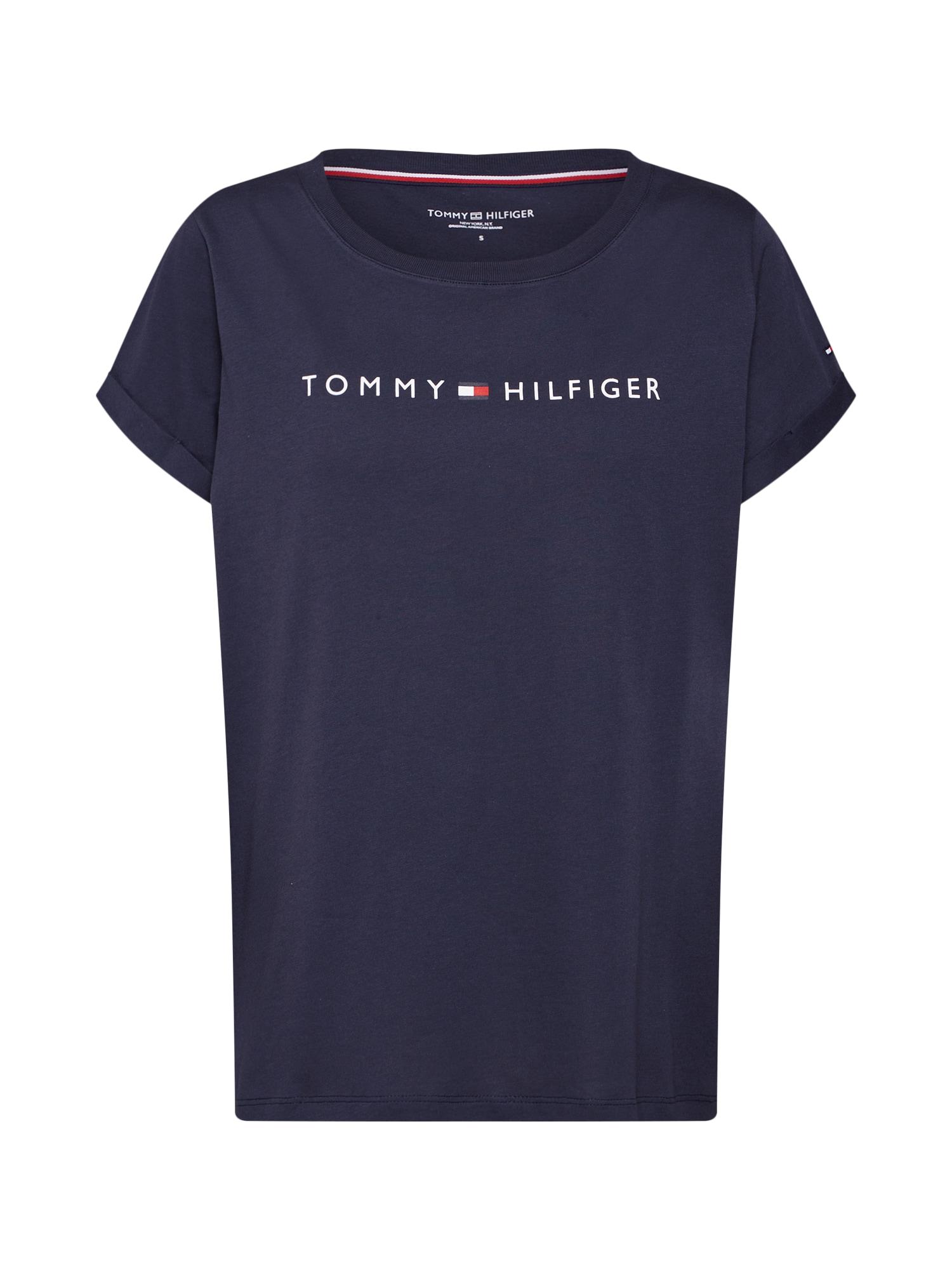 TOMMY HILFIGER Pižaminiai marškinėliai tamsiai mėlyna