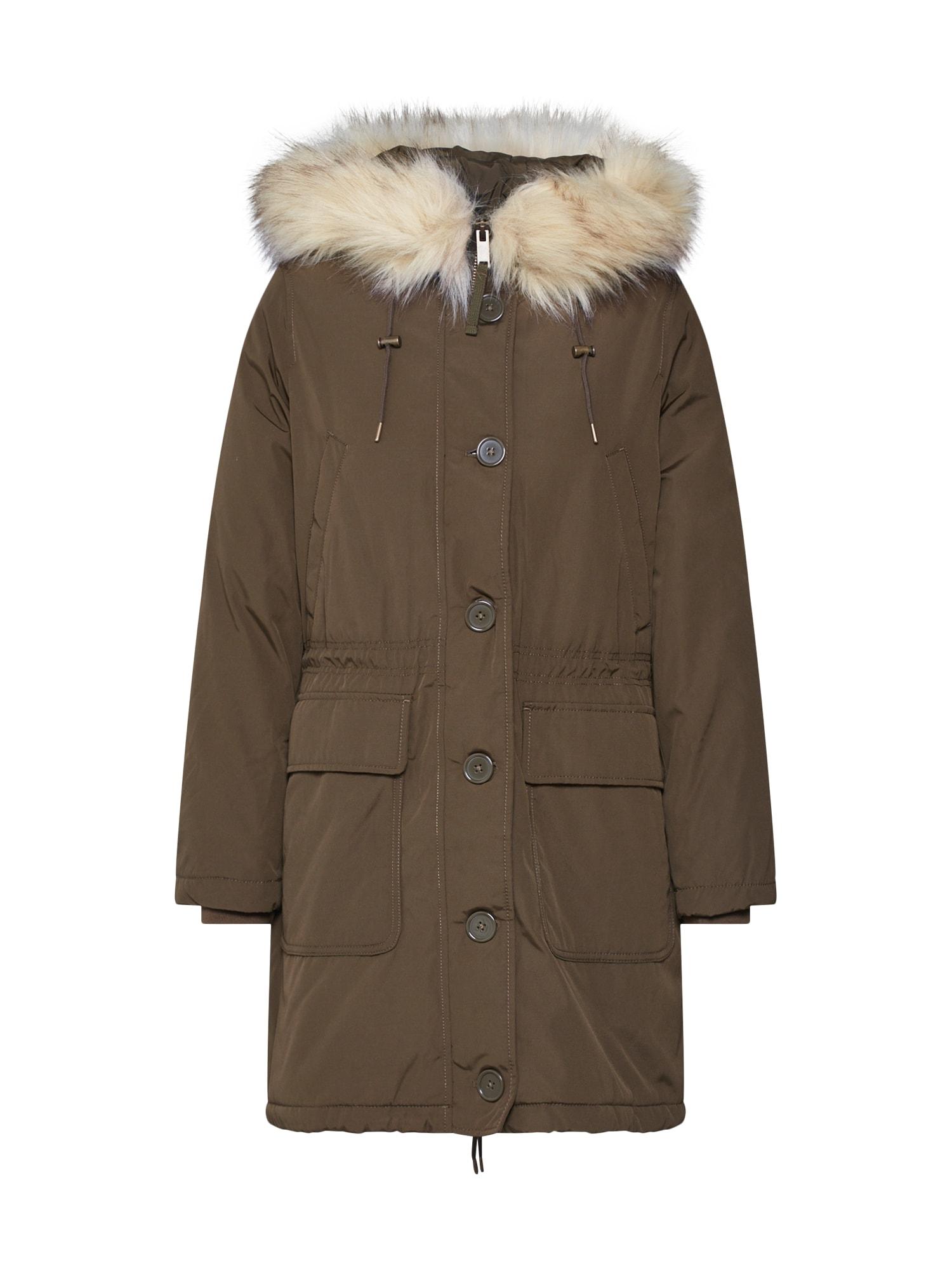 GAP Ilga rudeninė-žieminė striukė 'LUXE' alyvuogių spalva