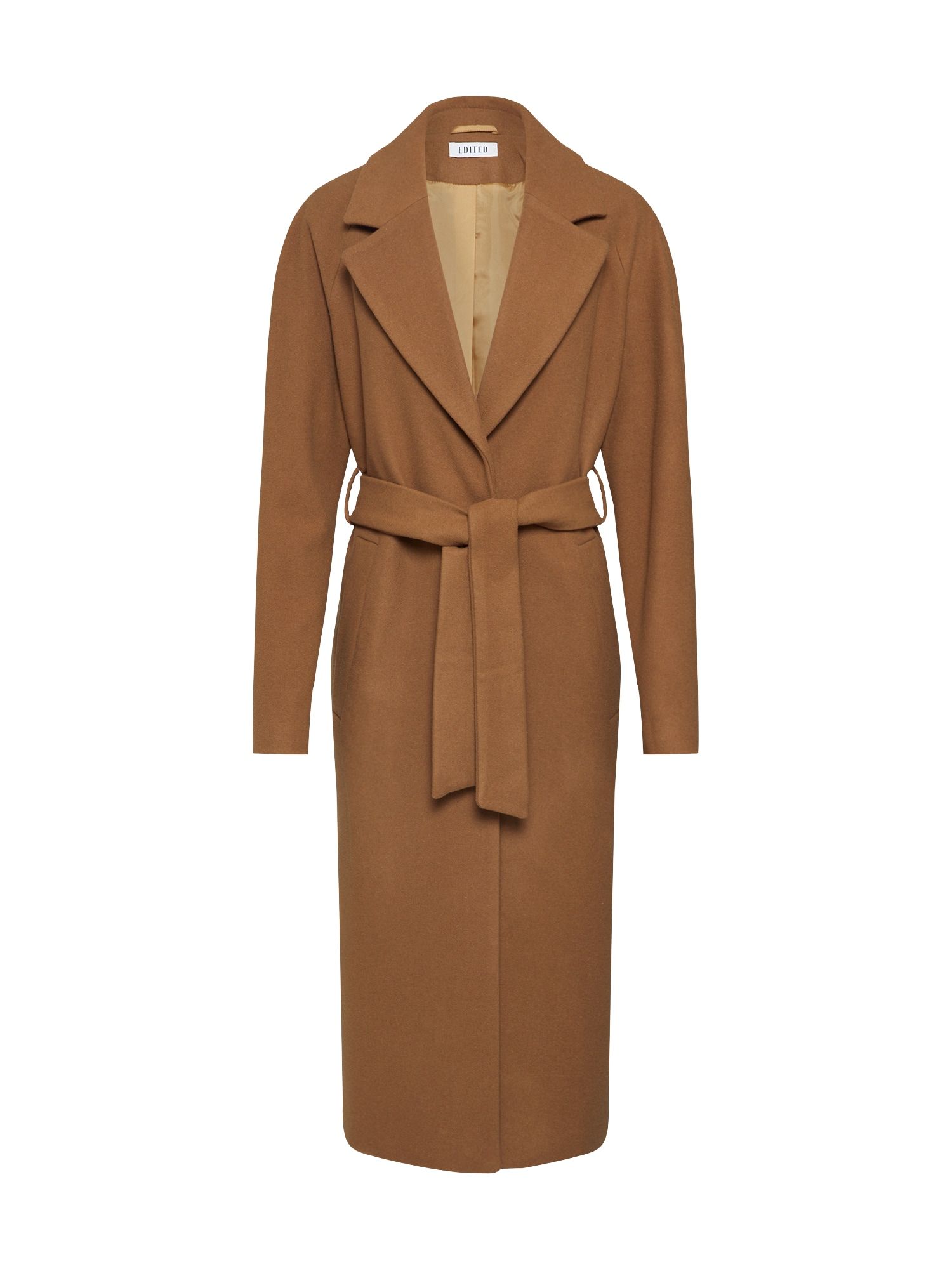 EDITED Rudeninis-žieminis paltas 'Cecilia' ruda / kupranugario