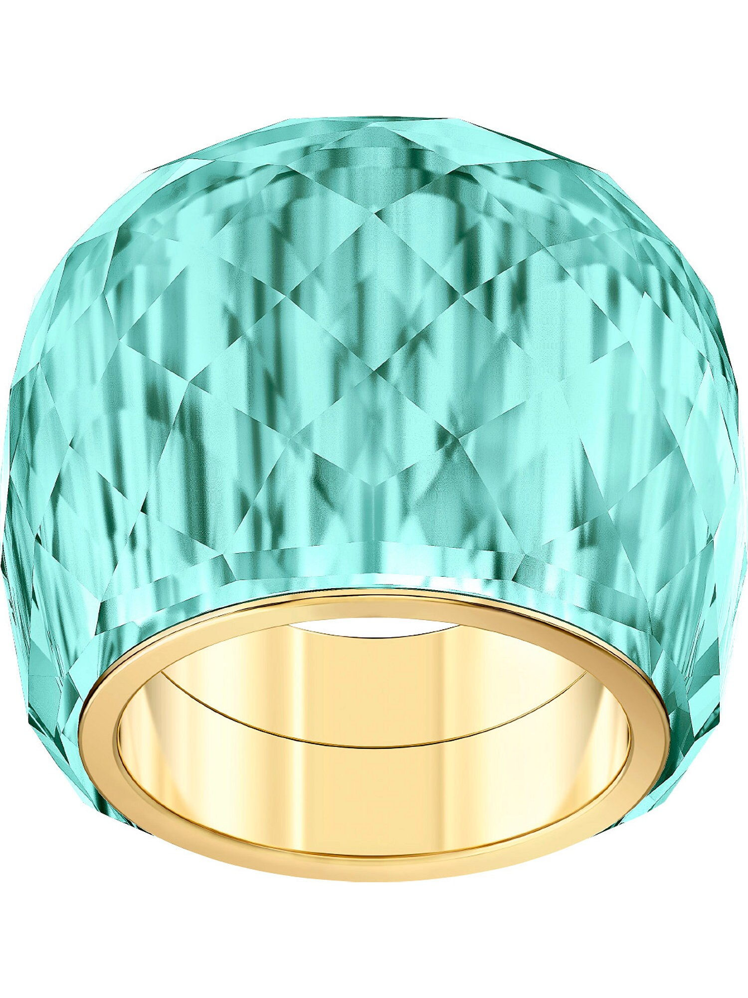 Damen Swarovski Ring 'Nirvana' blau,  gold, gold,  türkis, grau,  silber, silber | 09009654322064