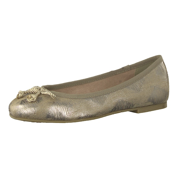 Ballerinas für Frauen - TAMARIS Ballerina gold  - Onlineshop ABOUT YOU