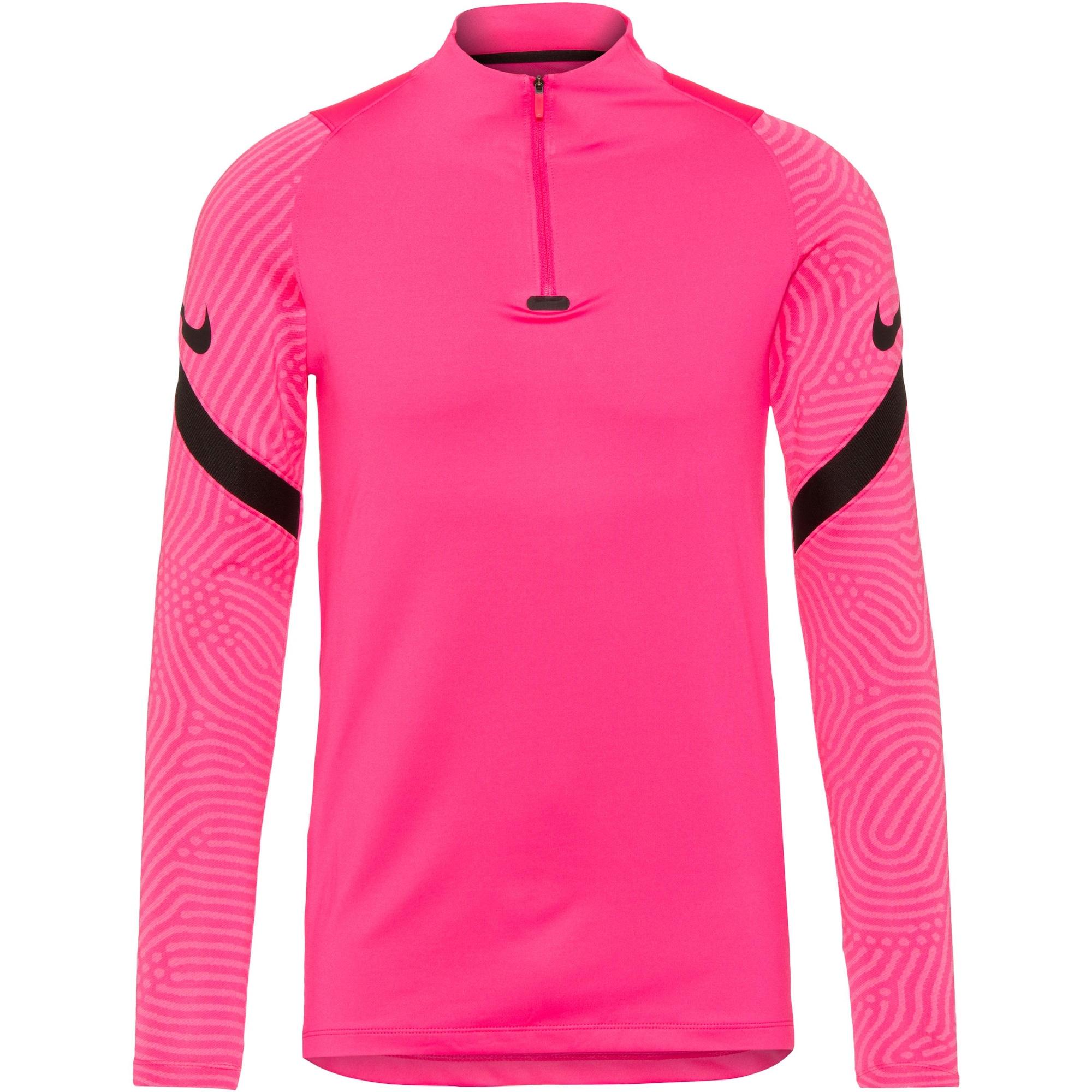 NIKE Sportiniai marškinėliai 'Strike' juoda / neoninė rožinė