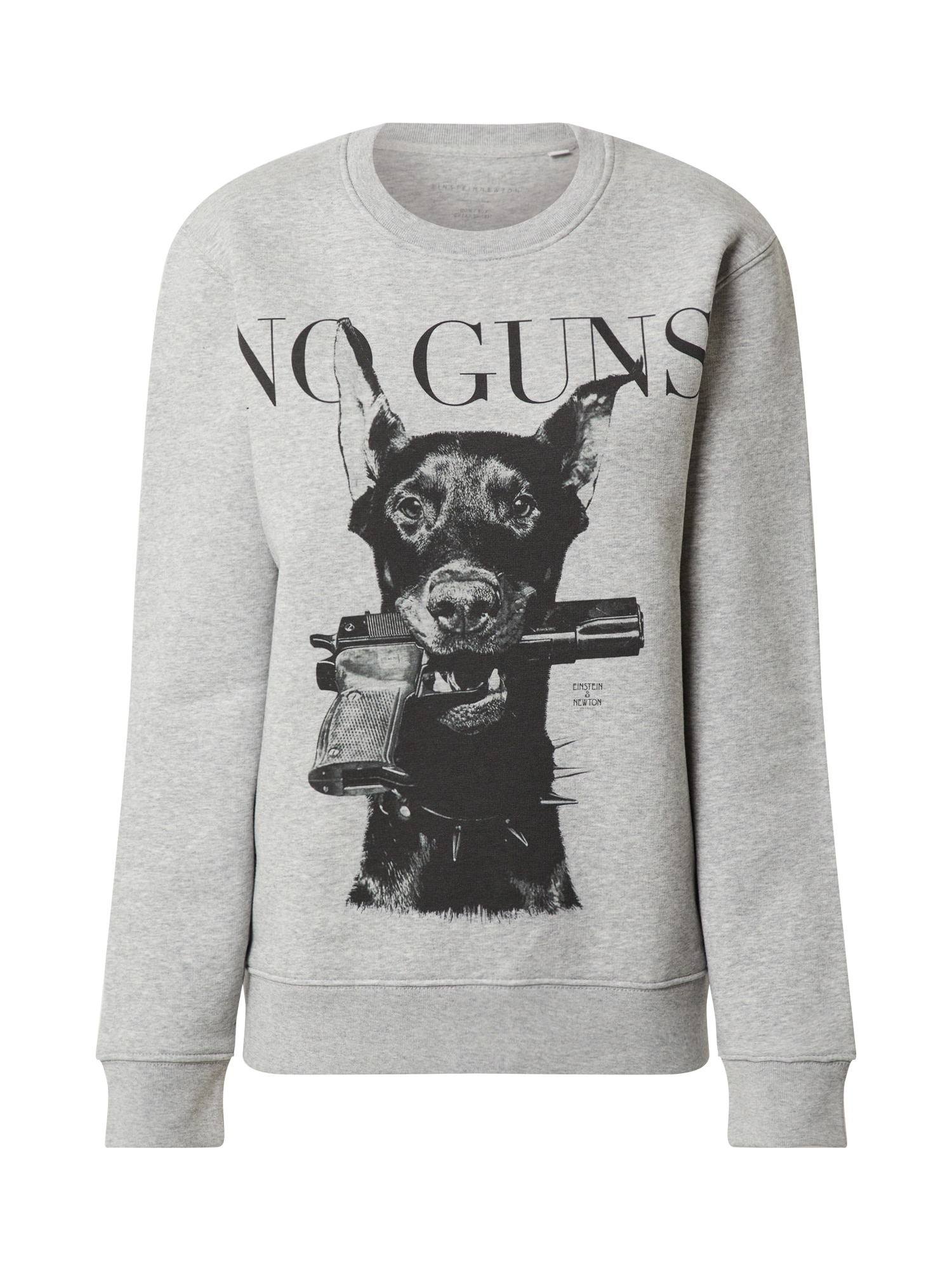 EINSTEIN & NEWTON Megztinis be užsegimo 'Gun Dog' margai pilka / juoda