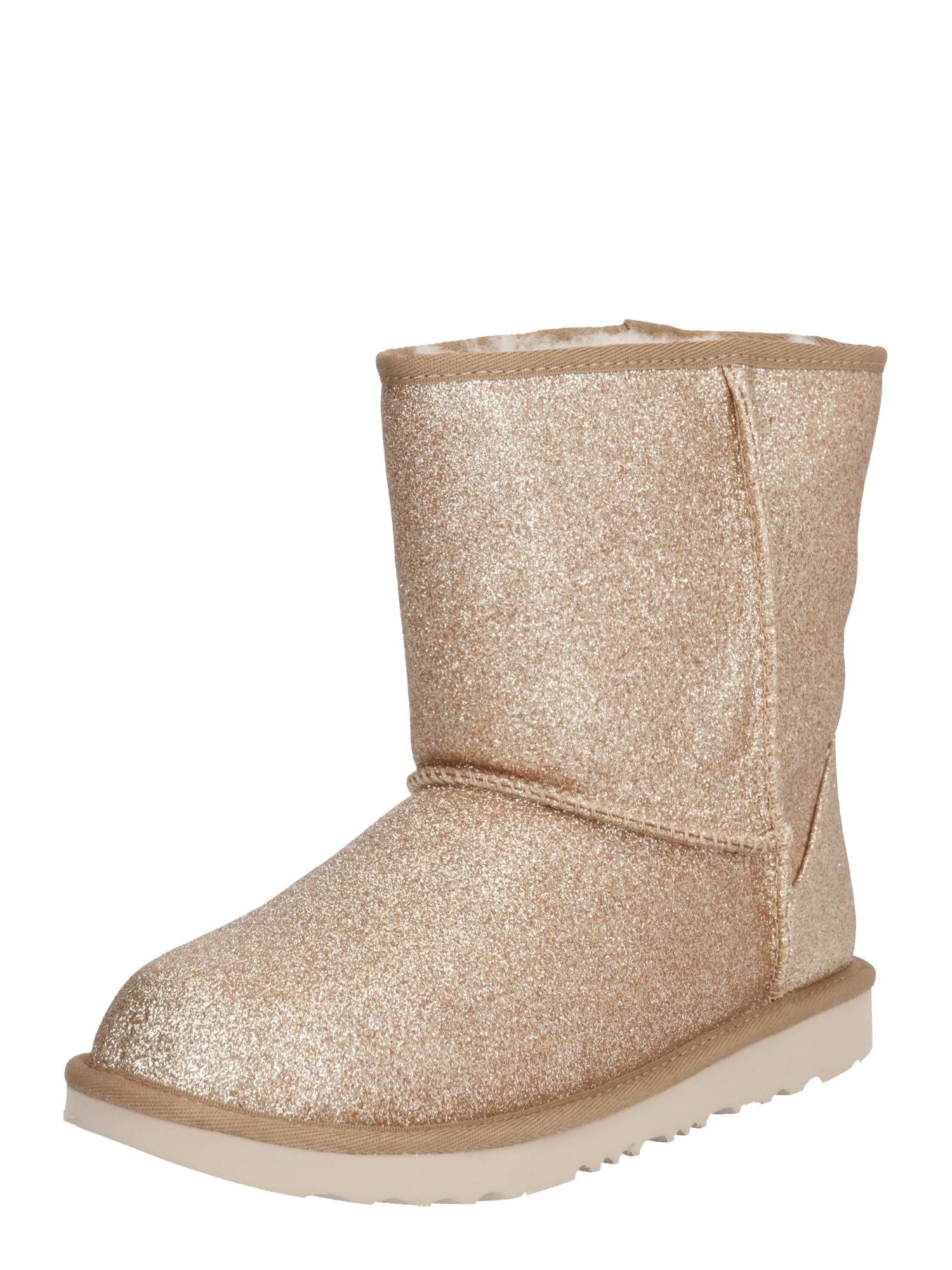 UGG Sniego batai 'Classic Short II Glitter' auksas