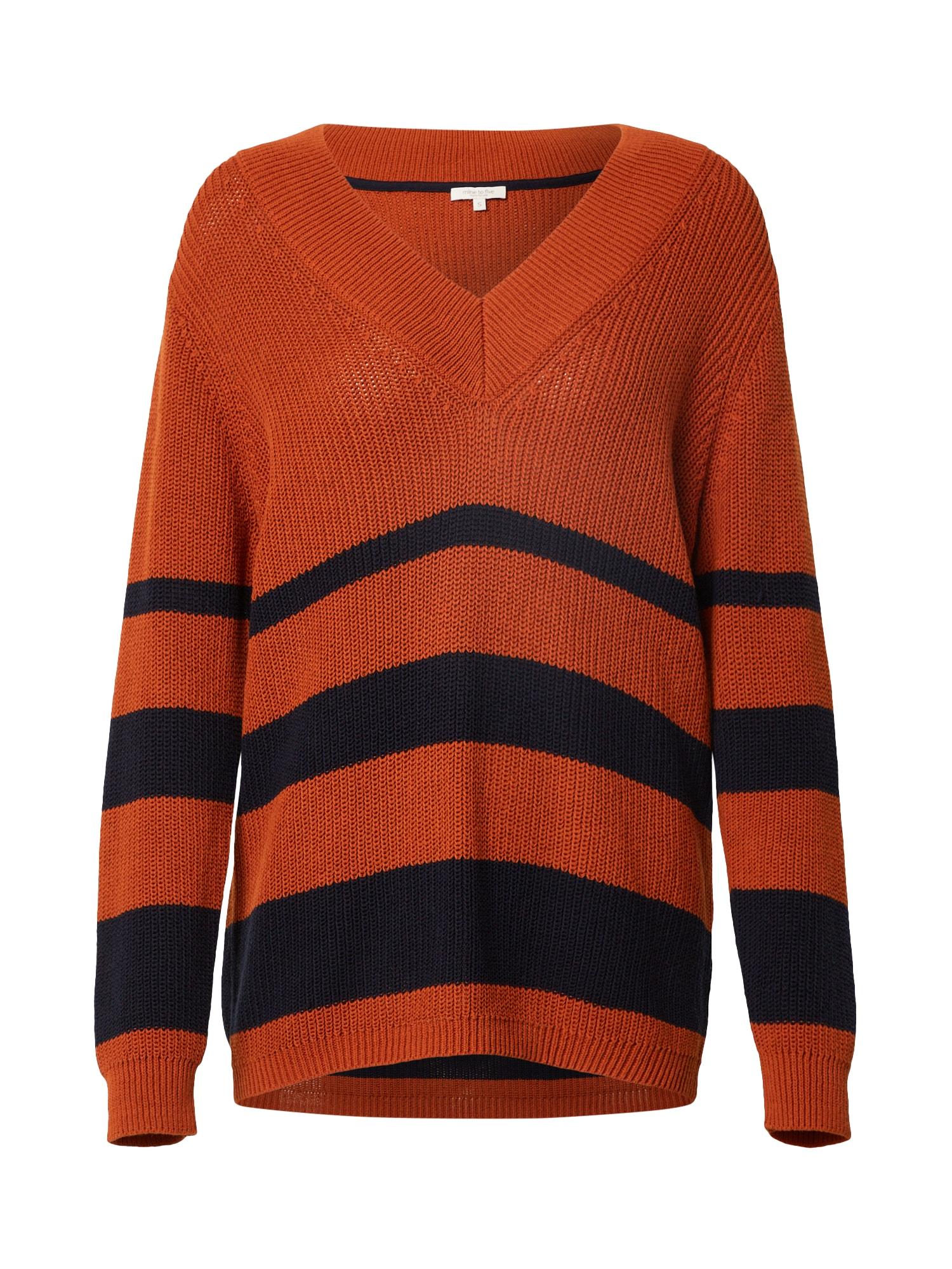 MINE TO FIVE Megztinis tamsiai mėlyna / oranžinė
