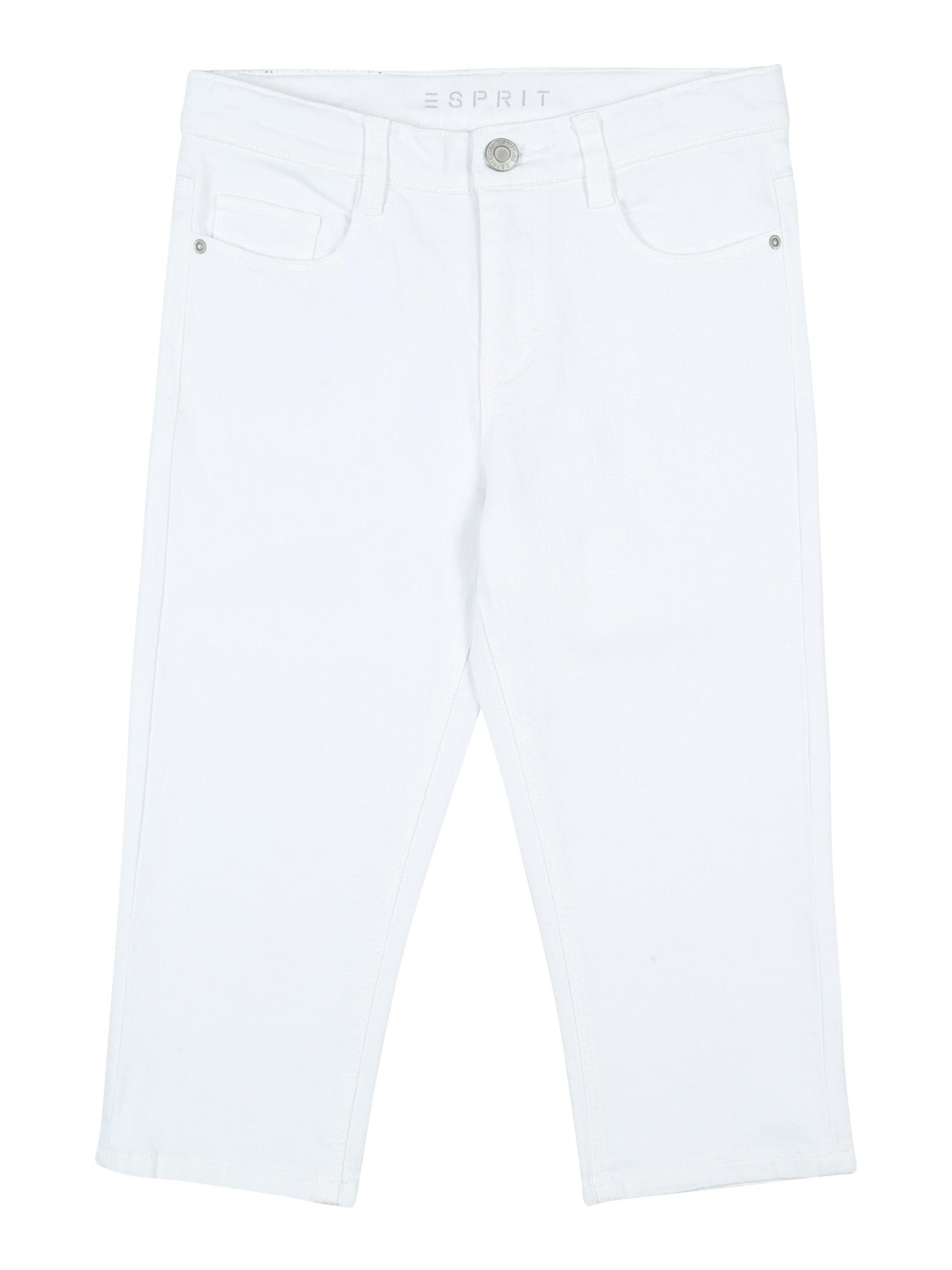 ESPRIT Džinsai 'DENIM PANTS CULOTTE' balto džinso spalva