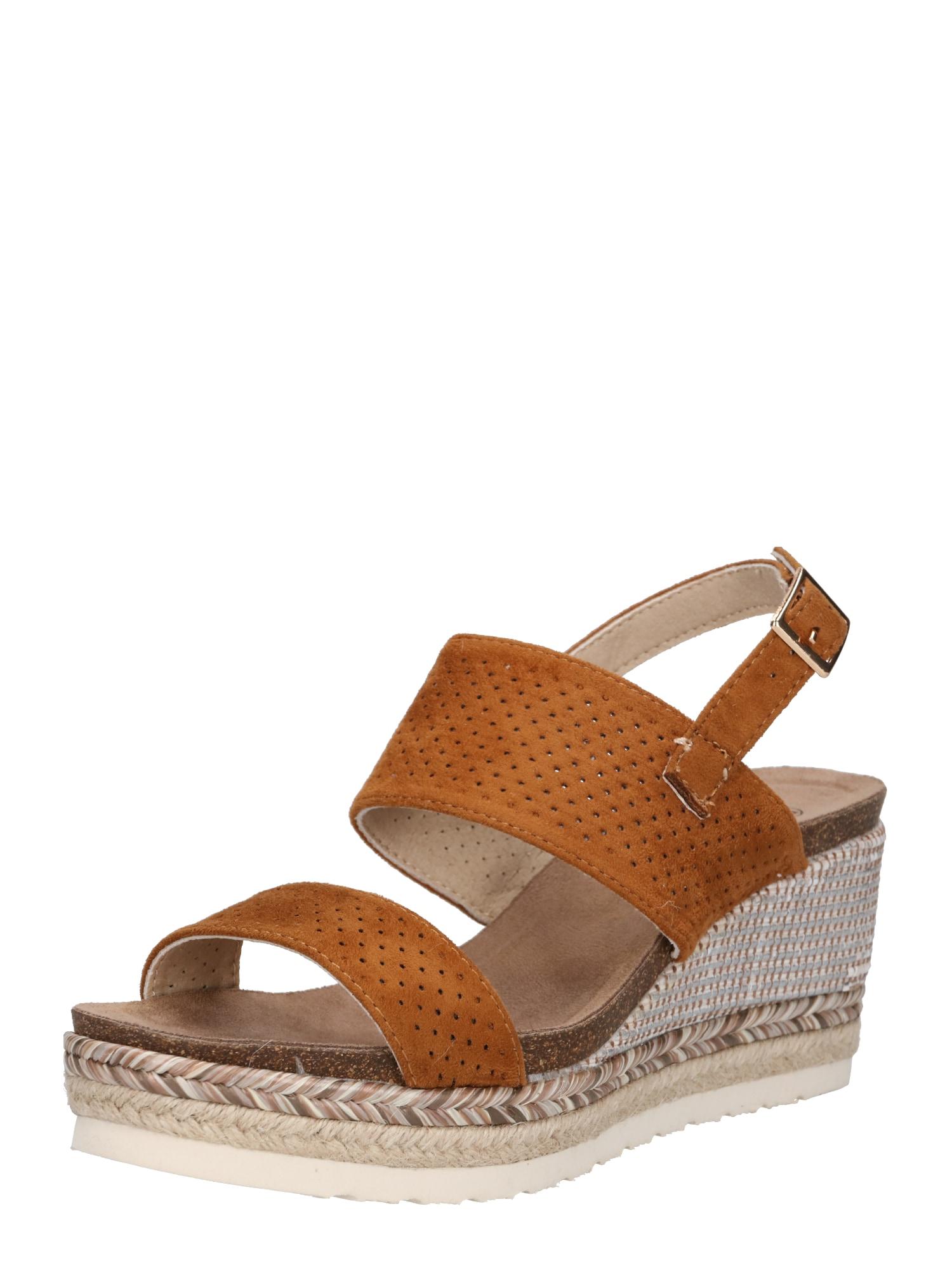 Páskové sandály béžová velbloudí H.I.S
