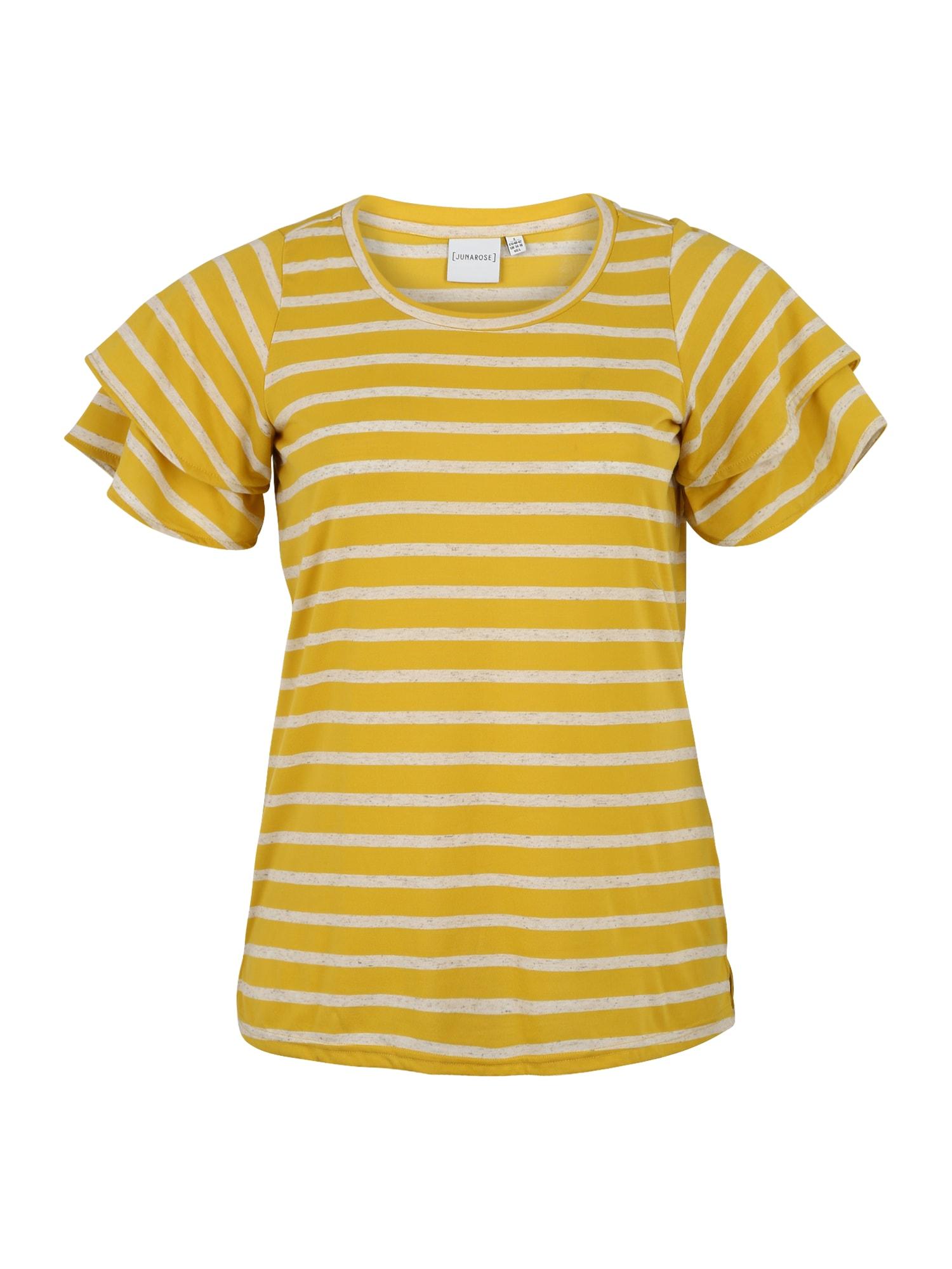 Junarose Marškinėliai 'TILDA' geltona / šviesiai pilka