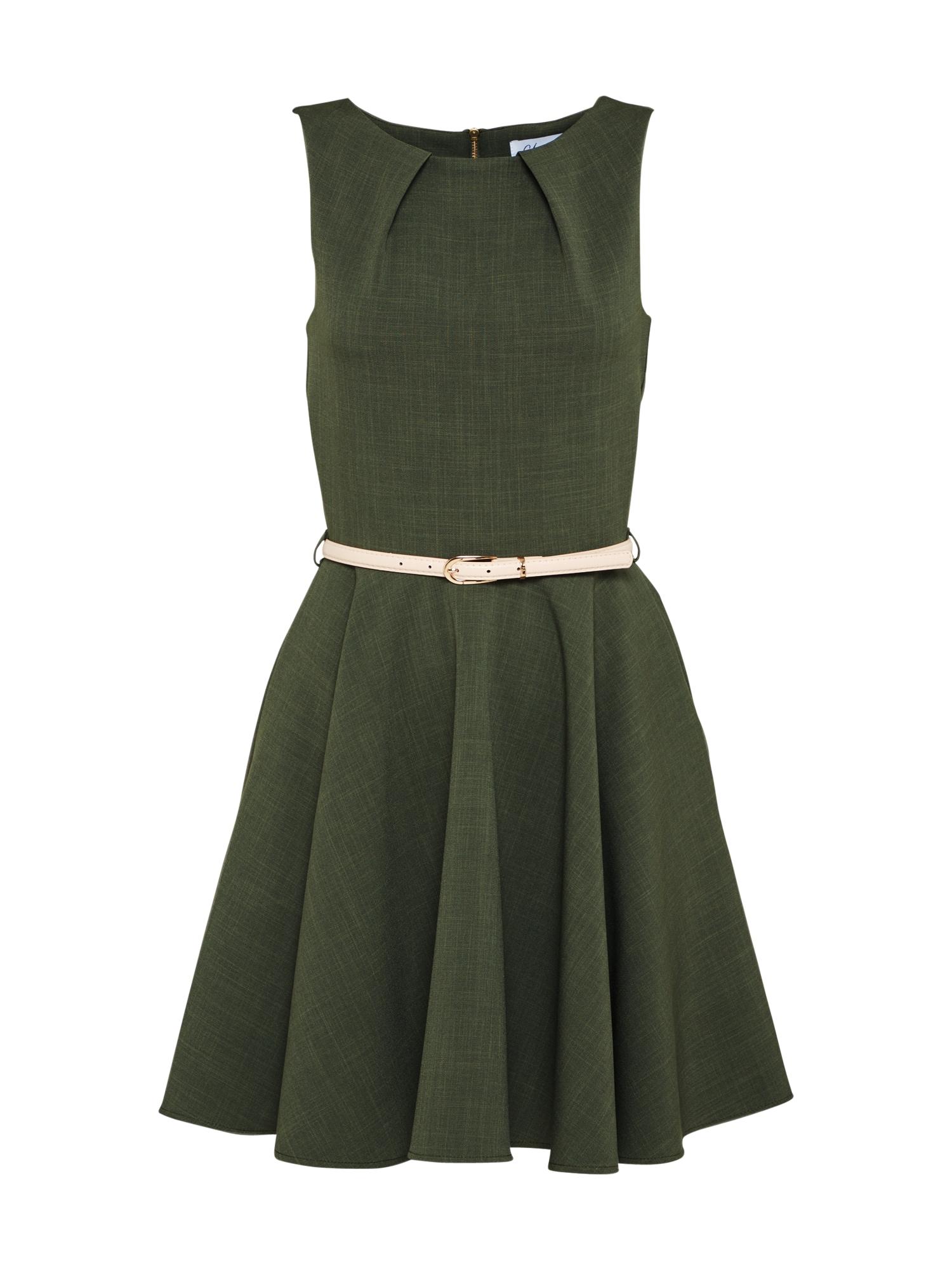 Closet London Kokteilinė suknelė kūno spalva / rusvai žalia