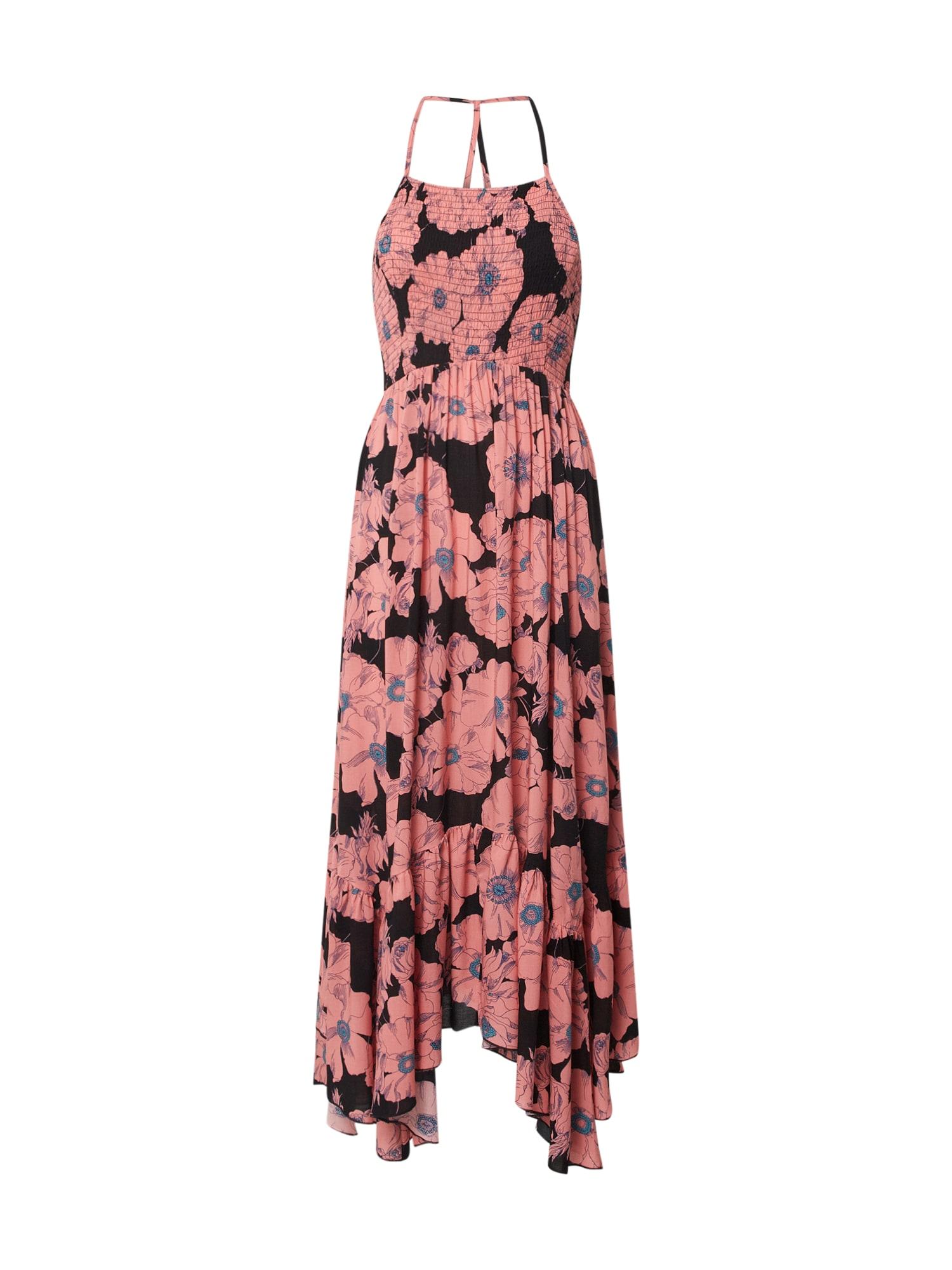 Free People Vasarinė suknelė juoda / rožinė