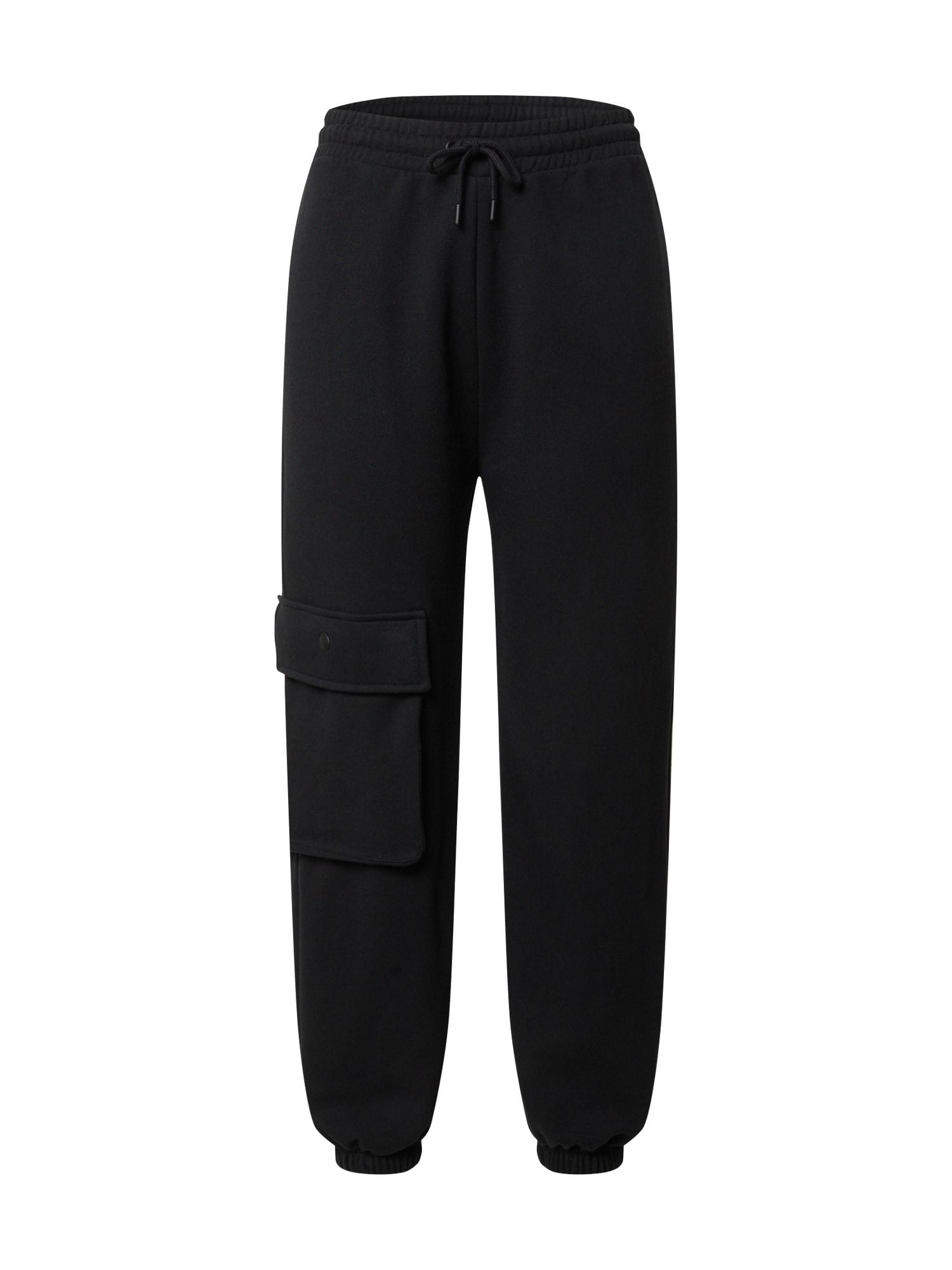 NU-IN Laisvo stiliaus kelnės juoda