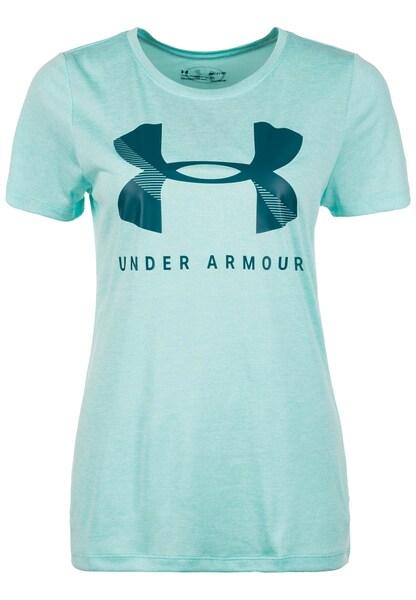 Sportmode für Frauen - UNDER ARMOUR Trainingsshirt 'Graphic Twist' mint  - Onlineshop ABOUT YOU