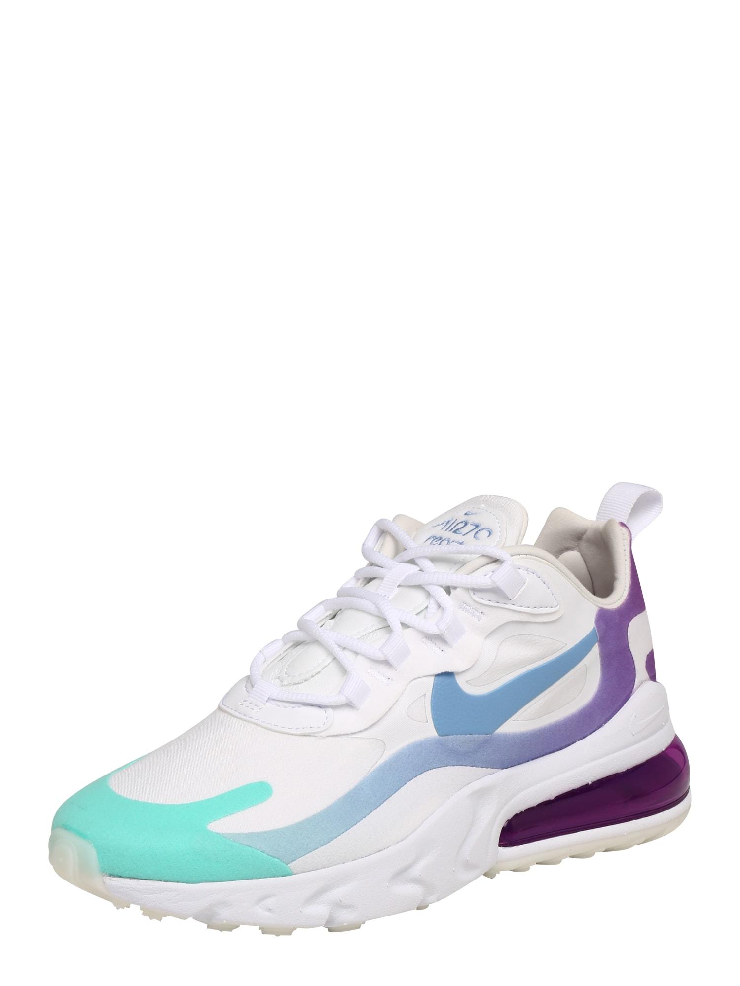 Nike Sportswear Sportbačiai be auliuko 'AIR MAX 270 REACT' mėlyna / žalia / balta