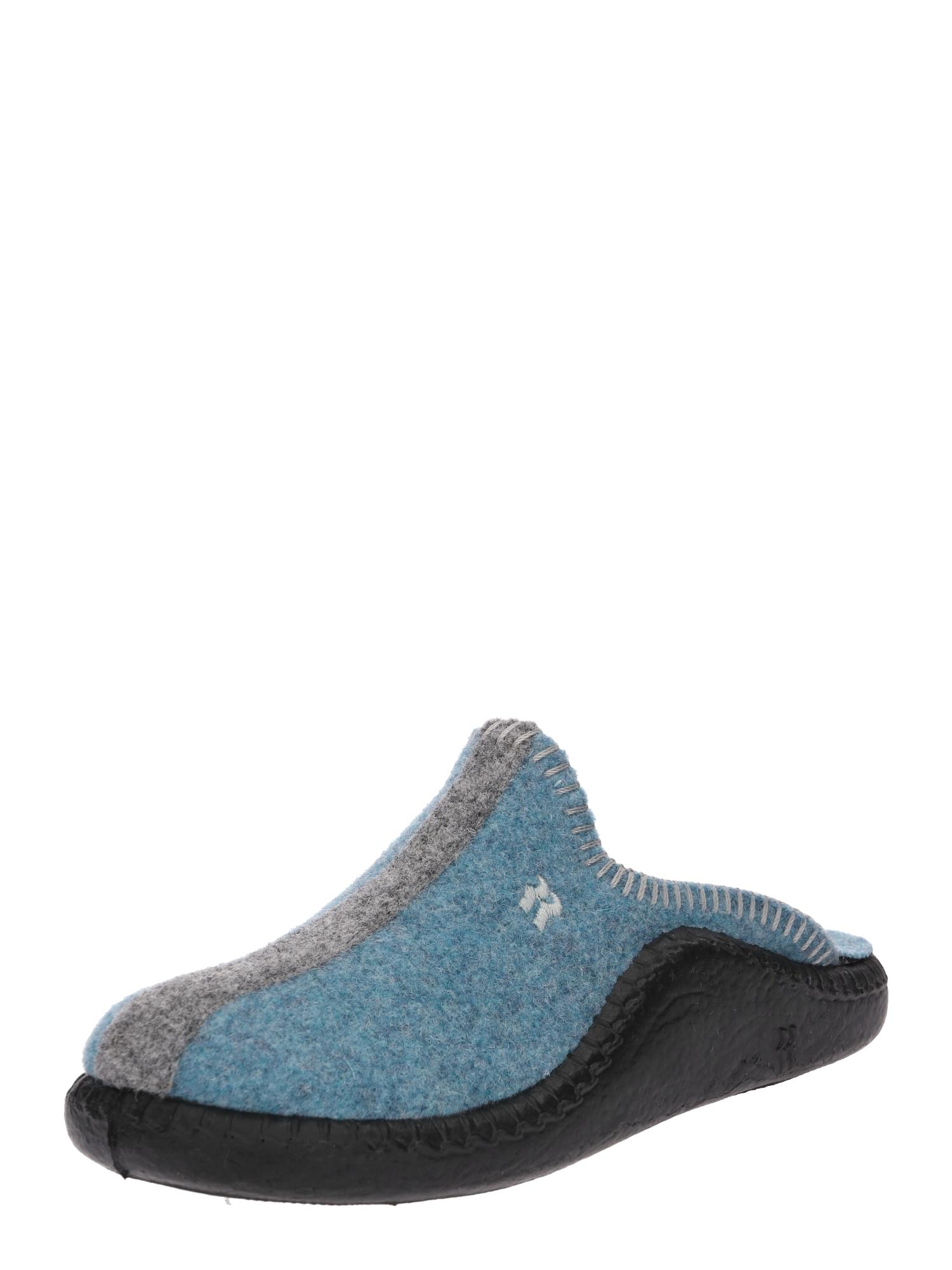 Pantofle Mokasso světlemodrá šedá ROMIKA
