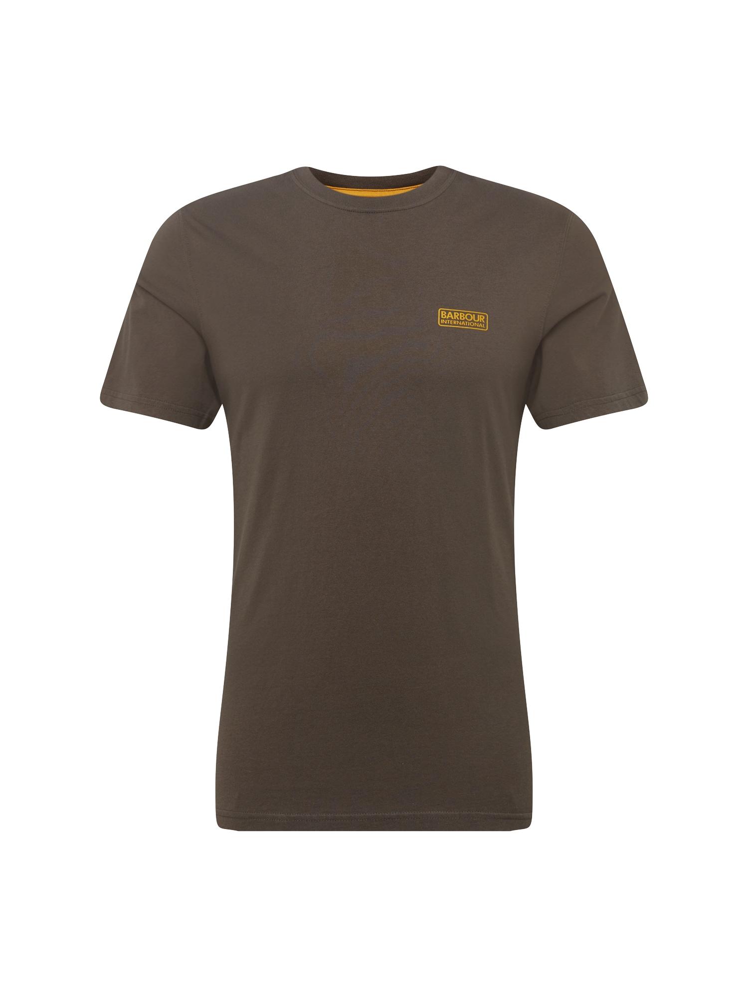 Tričko International Small hnědá oranžová Barbour International