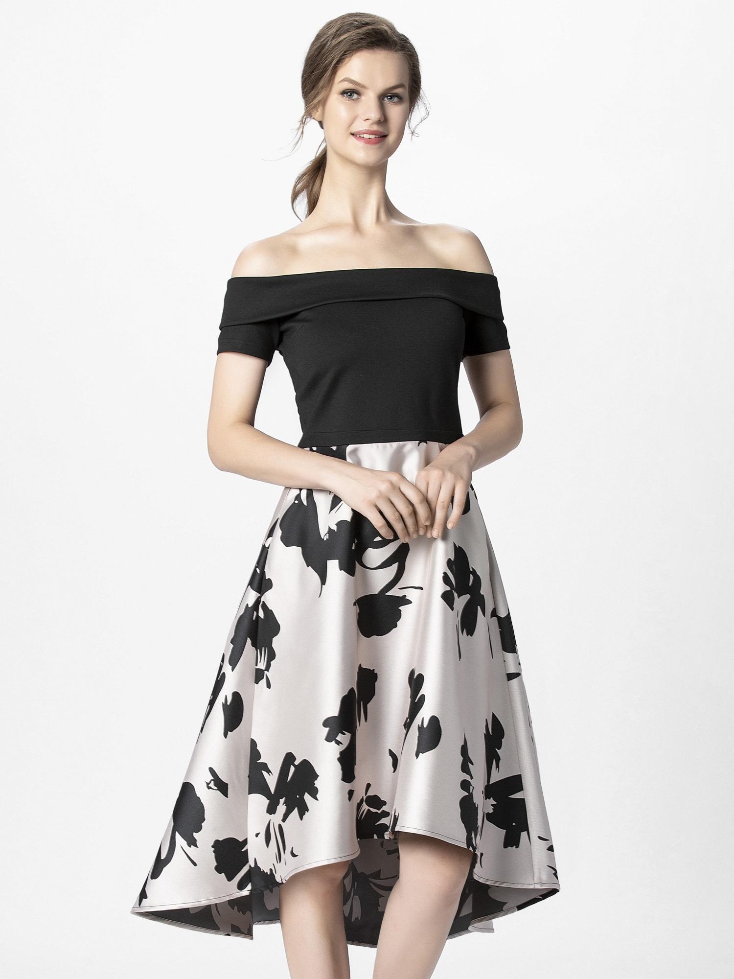 APART Vakarinė suknelė pudros spalva / juoda