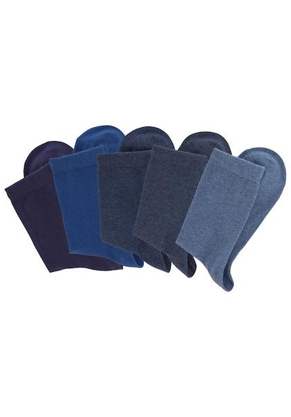 Socken für Frauen - LASCANA Socken rauchblau royalblau taubenblau  - Onlineshop ABOUT YOU