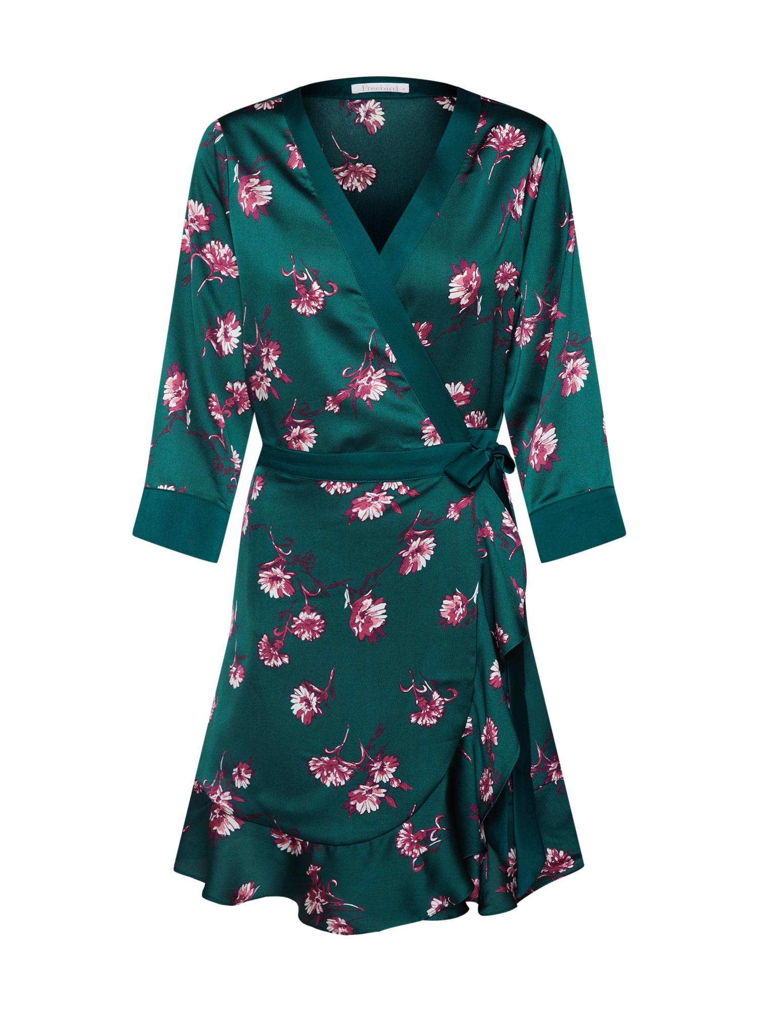 Letní šaty tmavě zelená pink Freebird