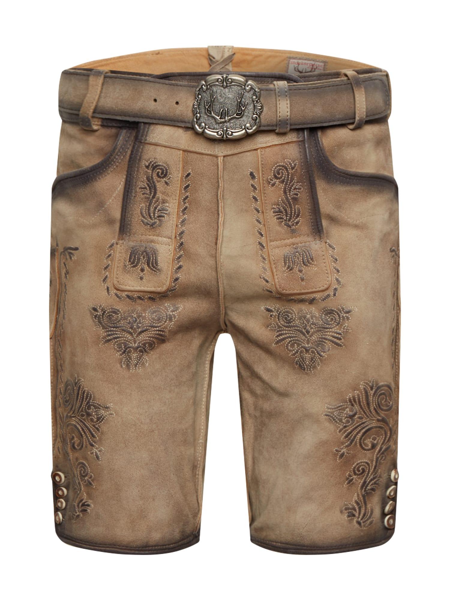 - CONTRAER - Kelnės su tradiciniais raštais 'Andreas' smėlio