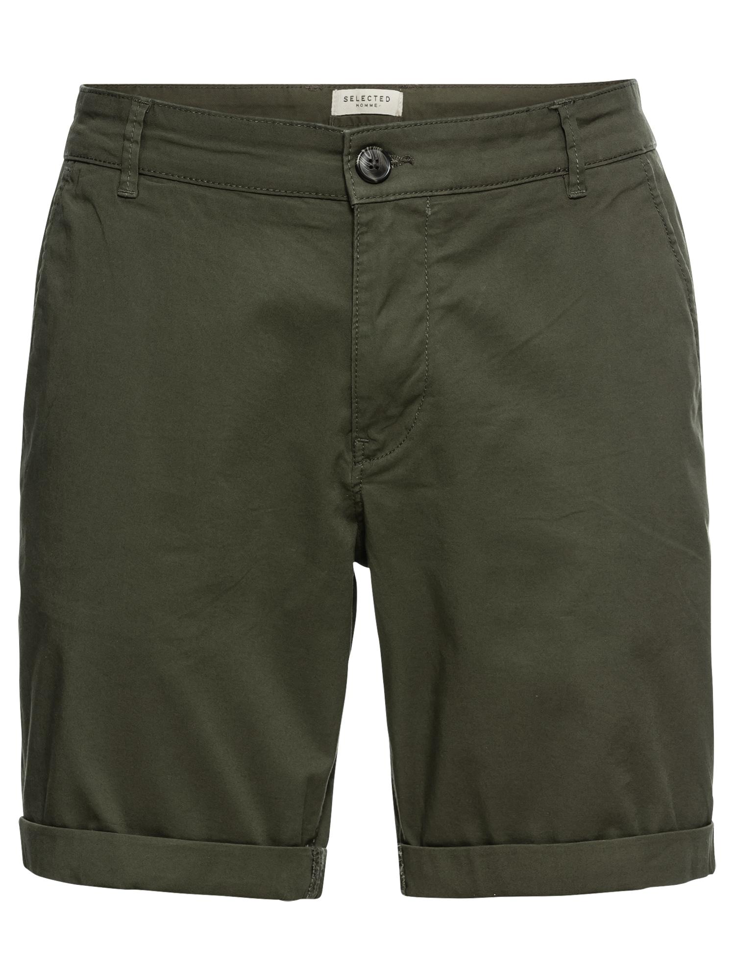 SELECTED HOMME Kelnės tamsiai žalia