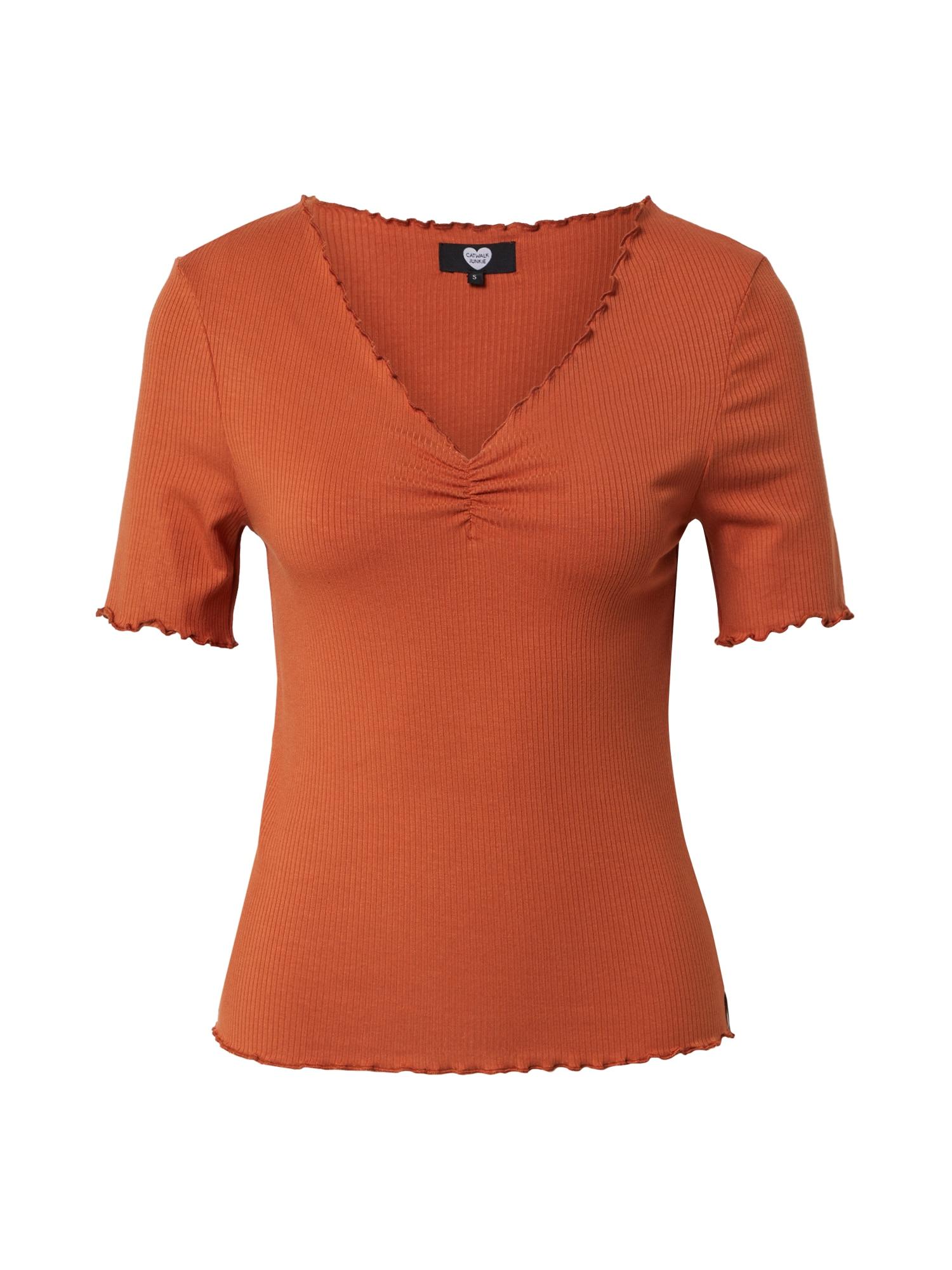 CATWALK JUNKIE Marškinėliai 'Bella' oranžinė-raudona