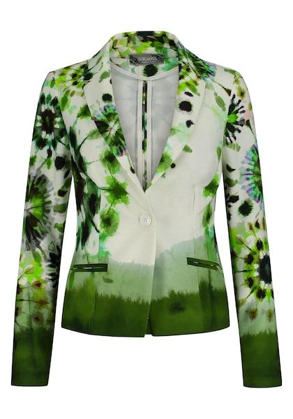 Jacken für Frauen - Nicowa Extravaganter Blazer ENEVA mit Batik Design grün weiß  - Onlineshop ABOUT YOU