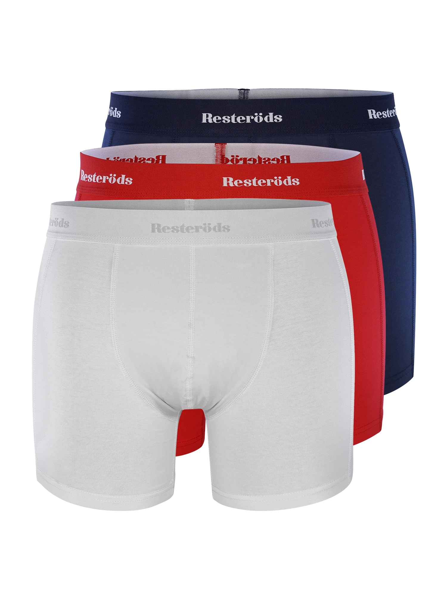 Resteröds Boxer trumpikės raudona / balta / tamsiai mėlyna
