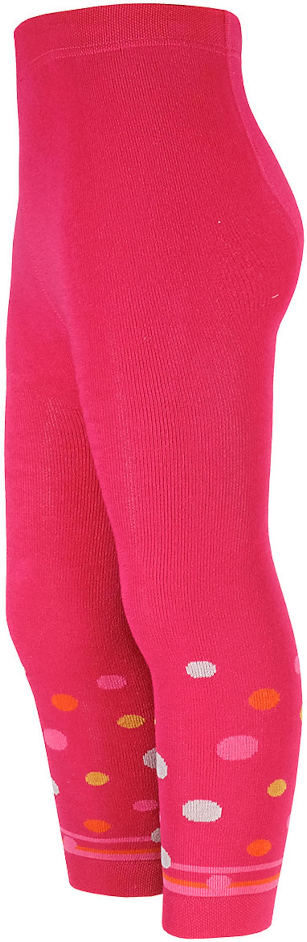 Kinder,  Mädchen,  Kinder Maximo Leggings orange,  pink,  weiß, schwarz,  weiß | 04060109311830