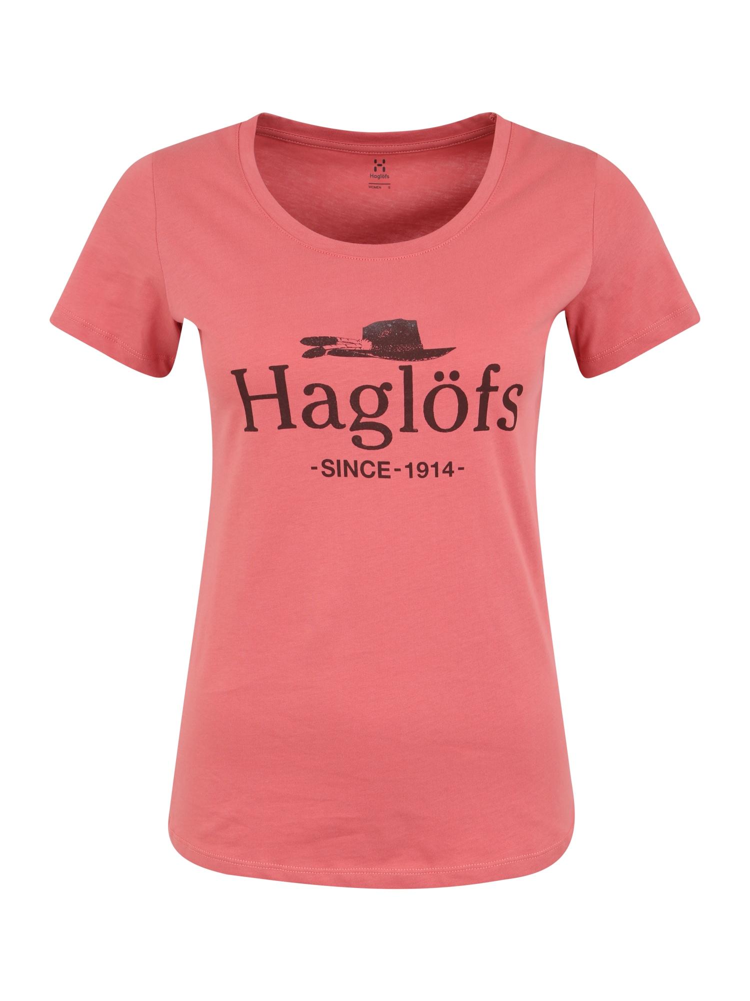 Haglöfs Sportiniai marškinėliai 'Mirth Tee Women' rožinė