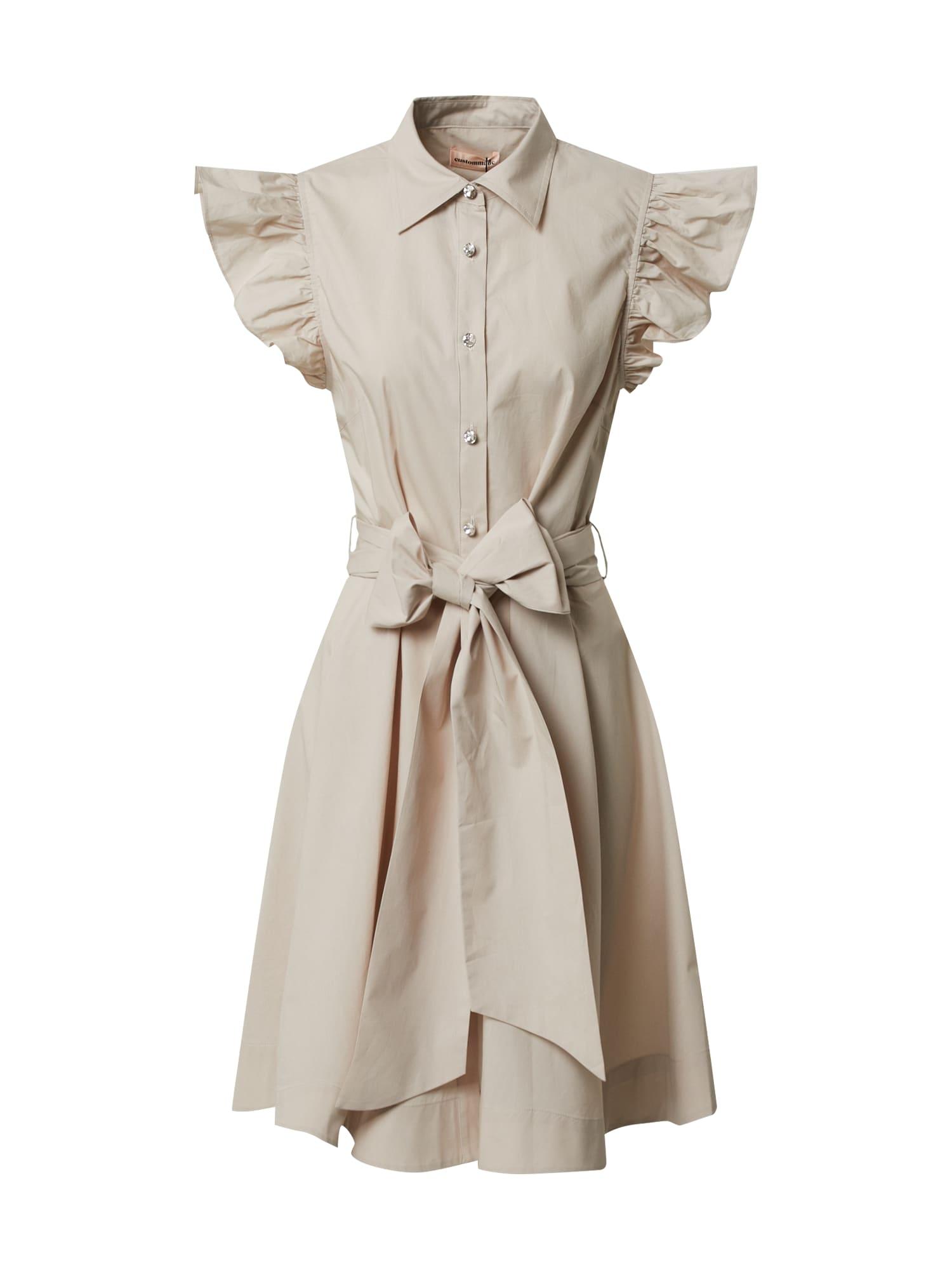 Custommade Letné šaty 'Lira'  béžová
