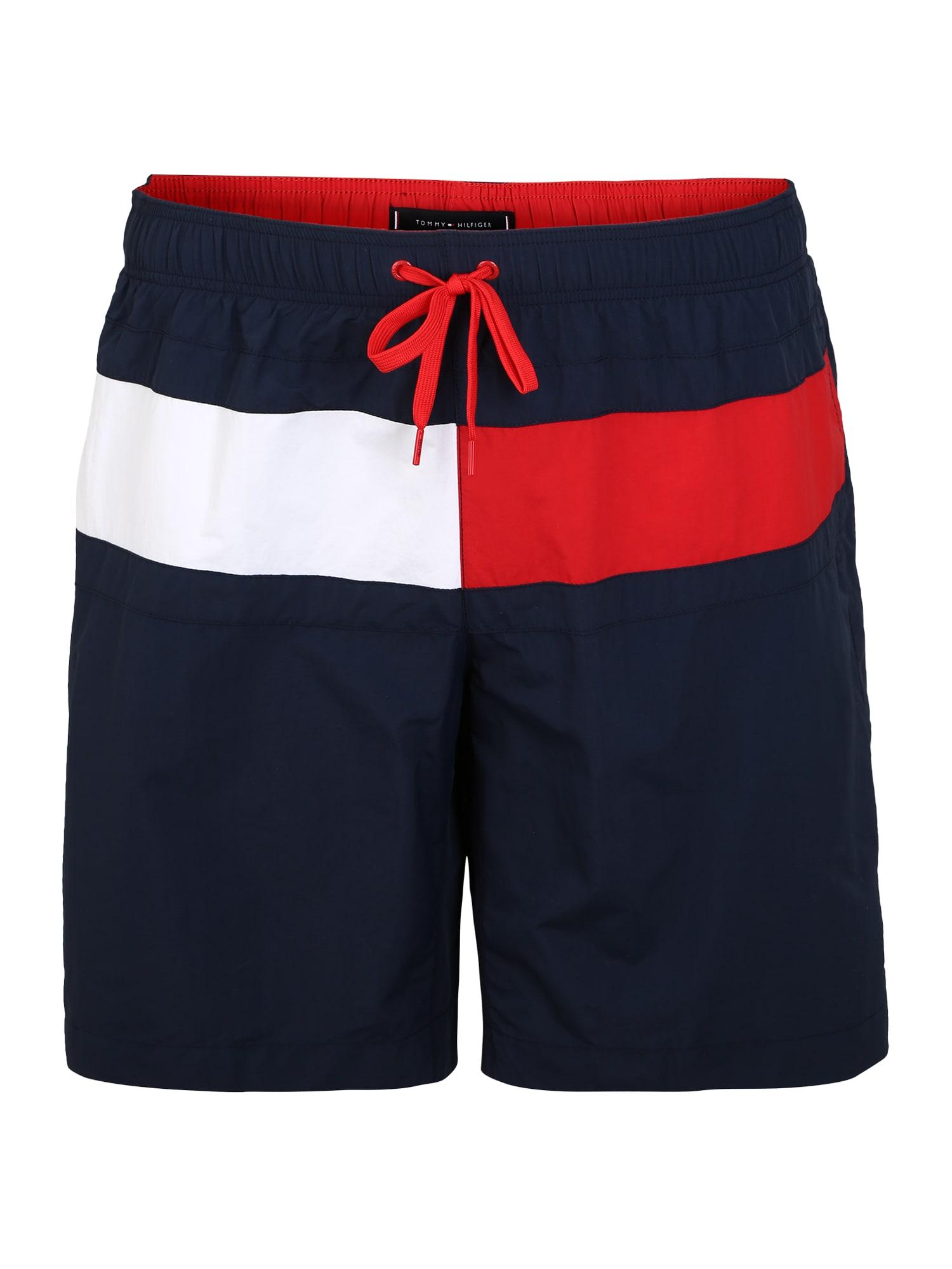 Tommy Hilfiger Underwear Maudymosi trumpikės nakties mėlyna / raudona / balta
