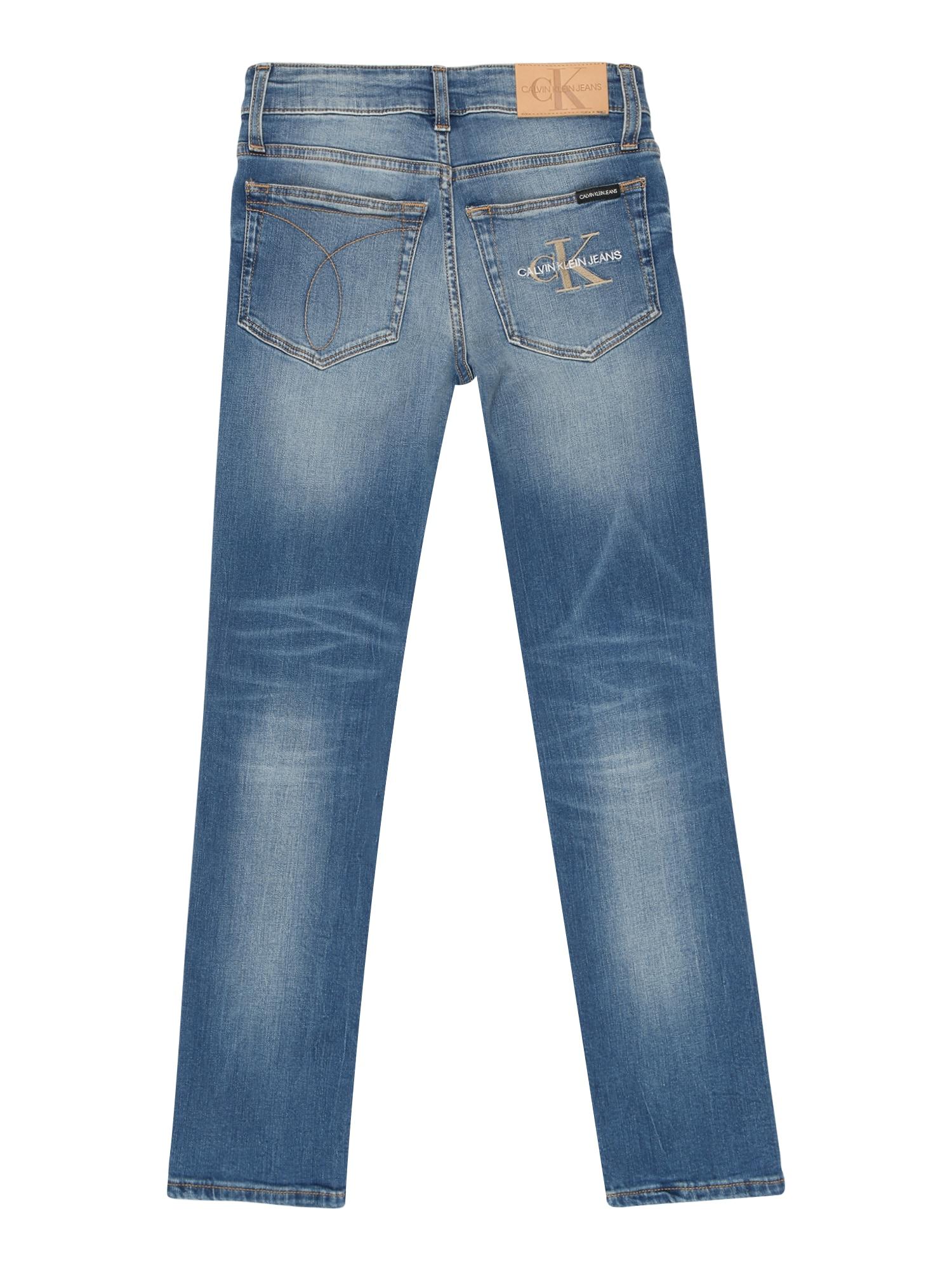Calvin Klein Jeans Jeans 'SLIM MNGRM LIGHT DESTR STR'  blå denim
