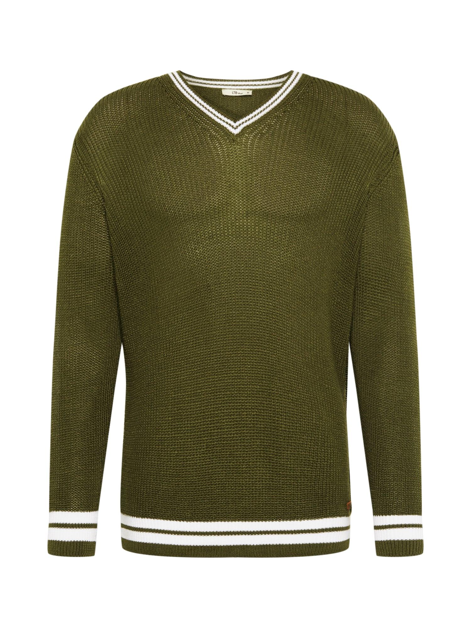 LTB Megztinis 'JOLAMI' balta / žalia