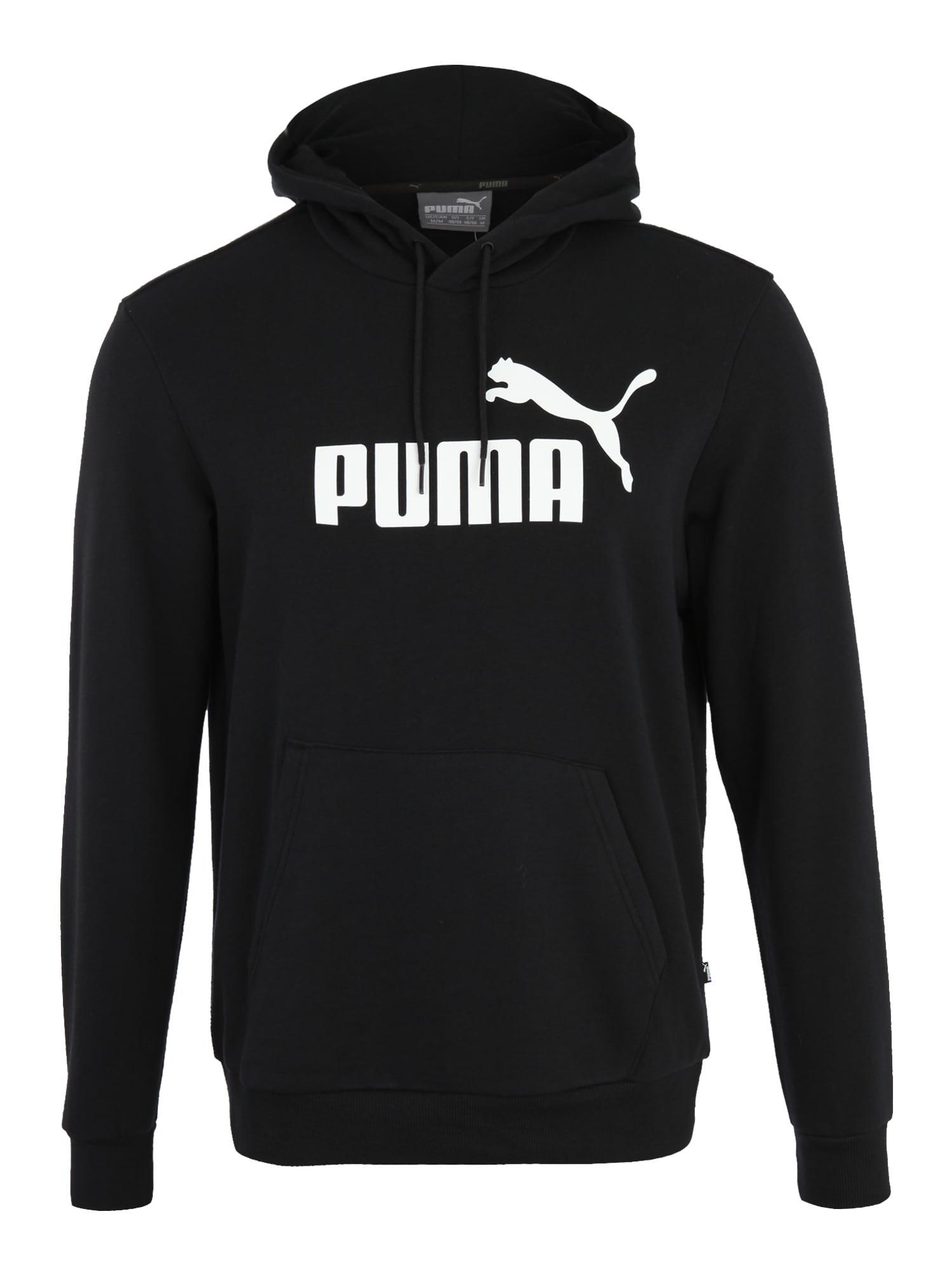 PUMA Sportinio tipo megztinis 'Essential' balta / juoda